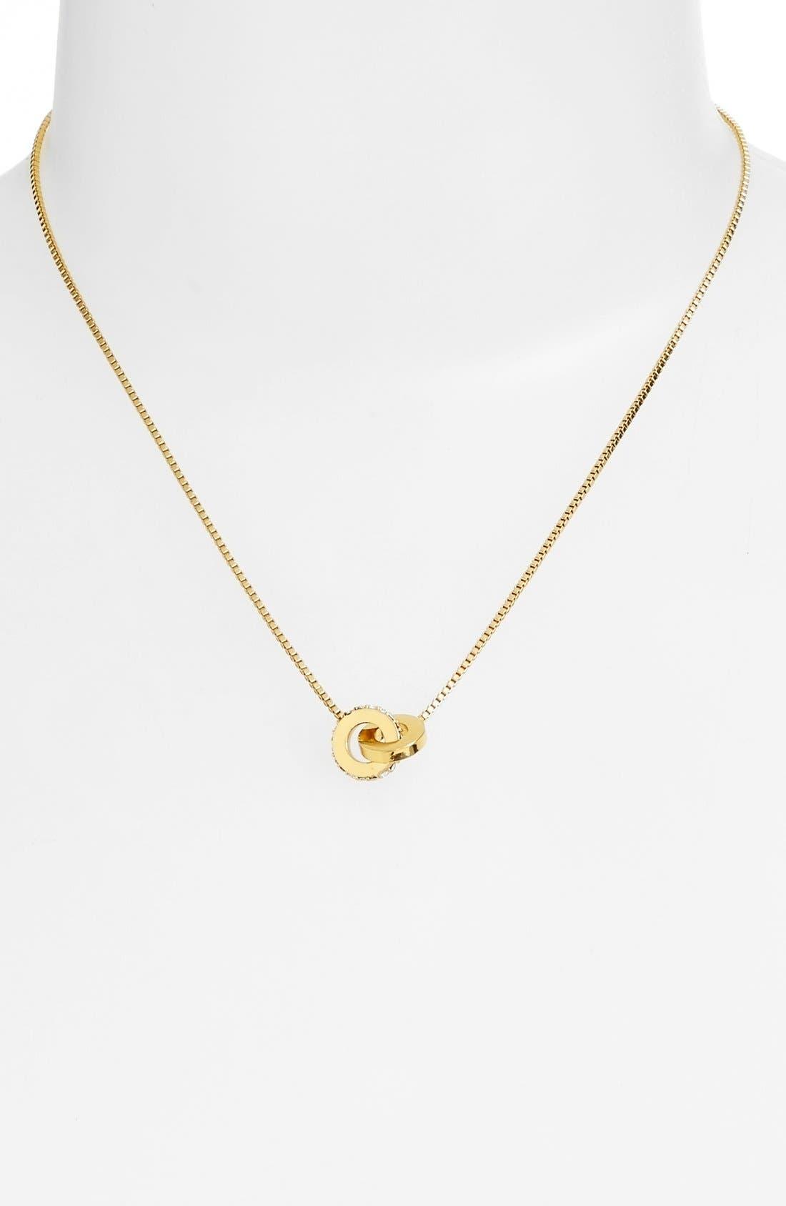 Alternate Image 2  - kate spade new york 'infinity' mini pendant necklace