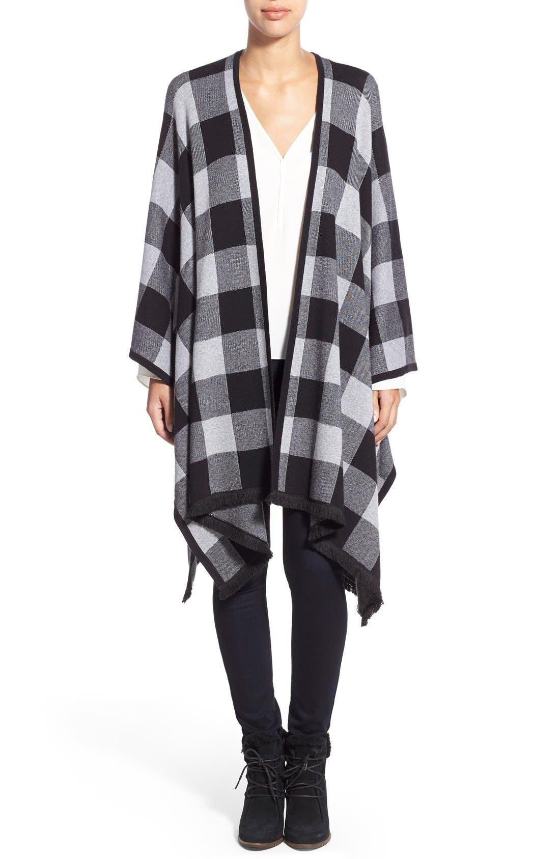 Alternate Image 1 Selected - kensie Check Plaid Blanket Cardigan
