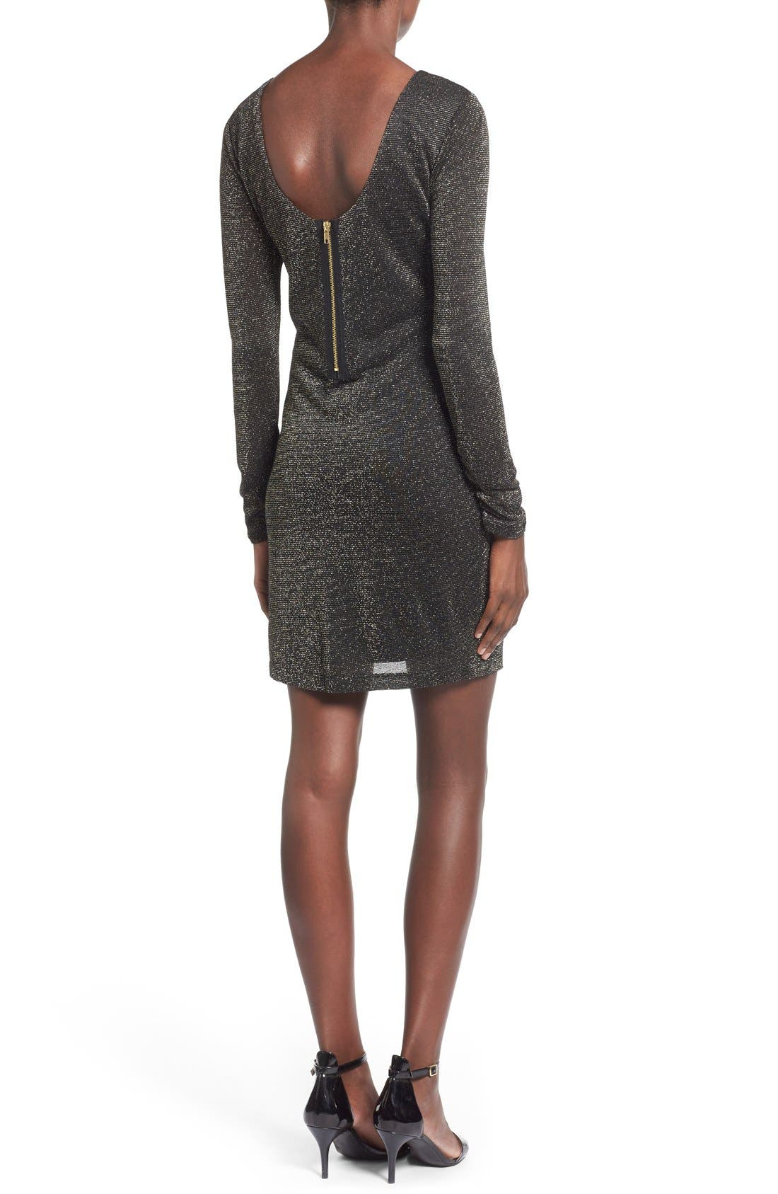Alternate Image 2  - Speechless Metallic Long Sleeve Sweater Dress