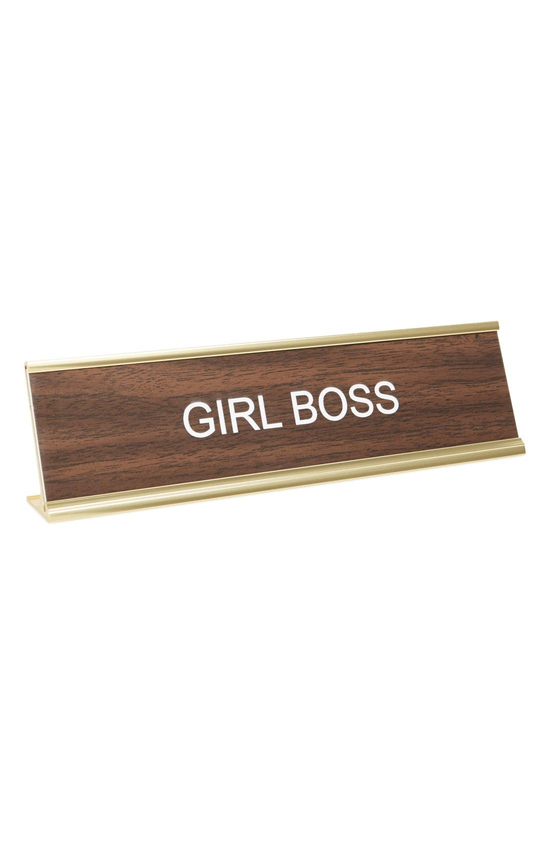 HE SAID, SHE SAID 'Girl Boss' Desk Sign