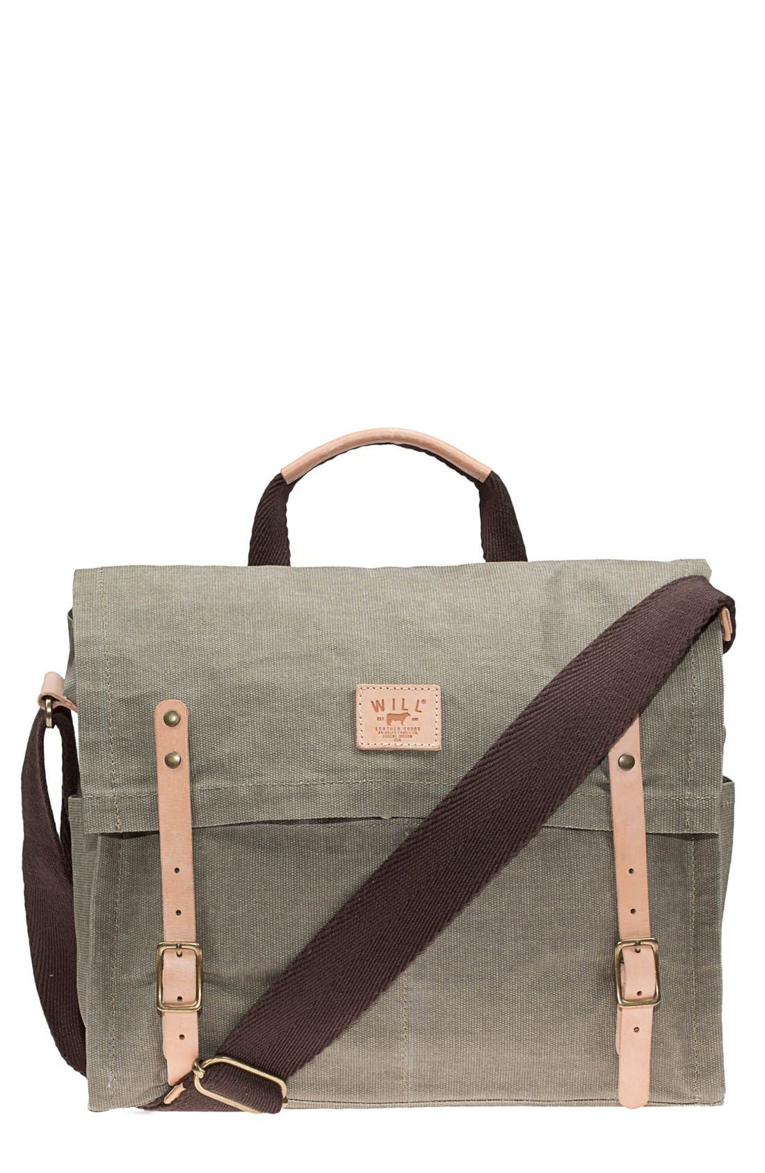 Alternate Image 2  - Will Leather Goods Waxed Canvas Messenger Bag