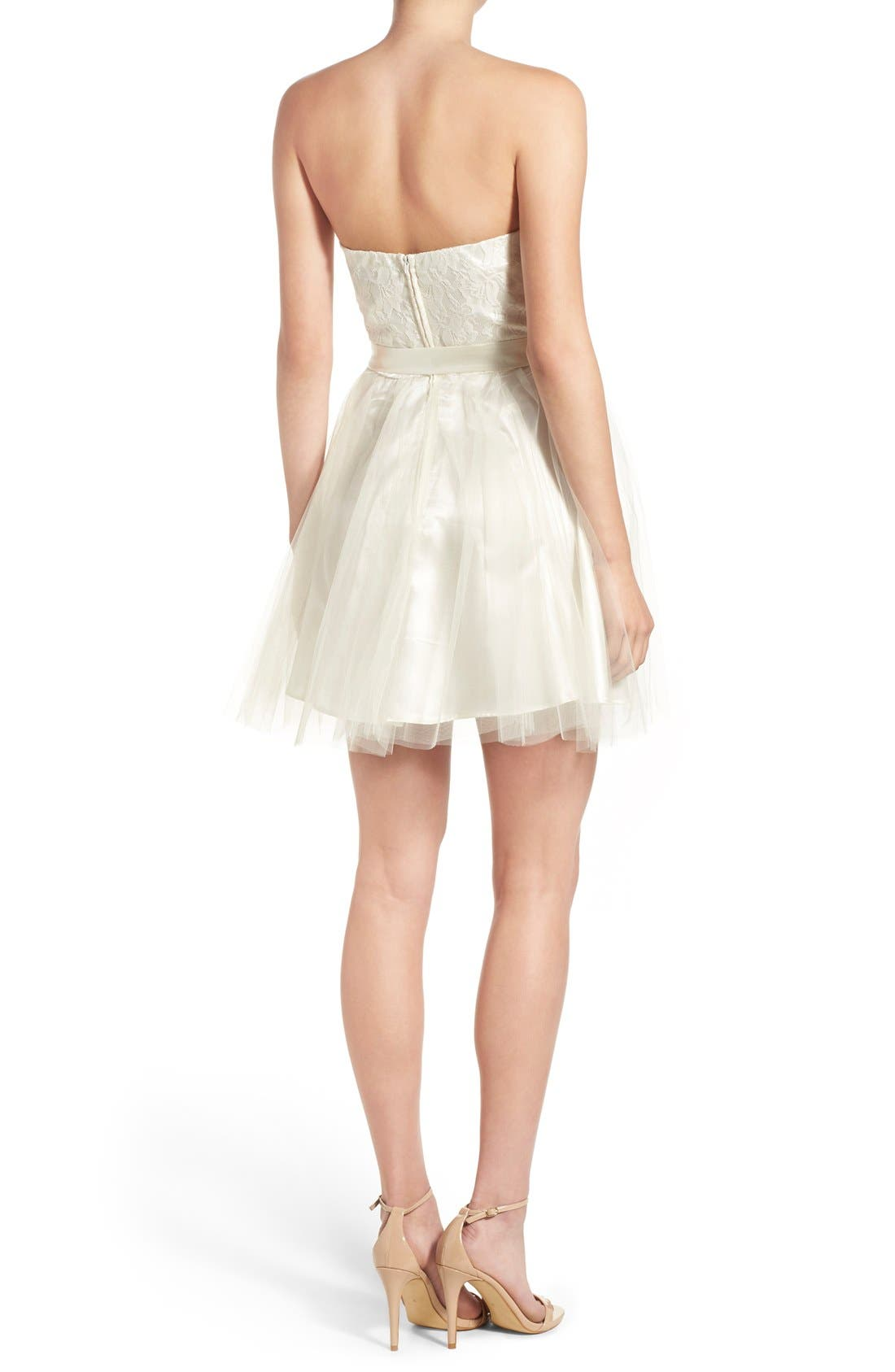 Alternate Image 2  - Steppin Out Strapless Tulle Party Dress
