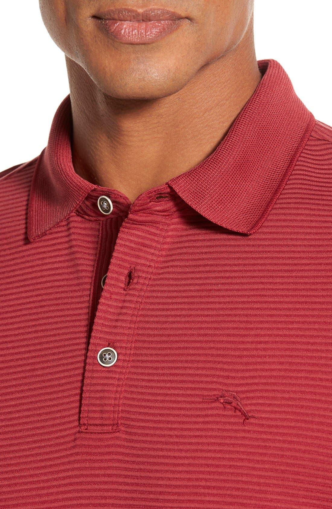 Alternate Image 4  - Tommy Bahama 'Superfecta' Stripe Long Sleeve Polo