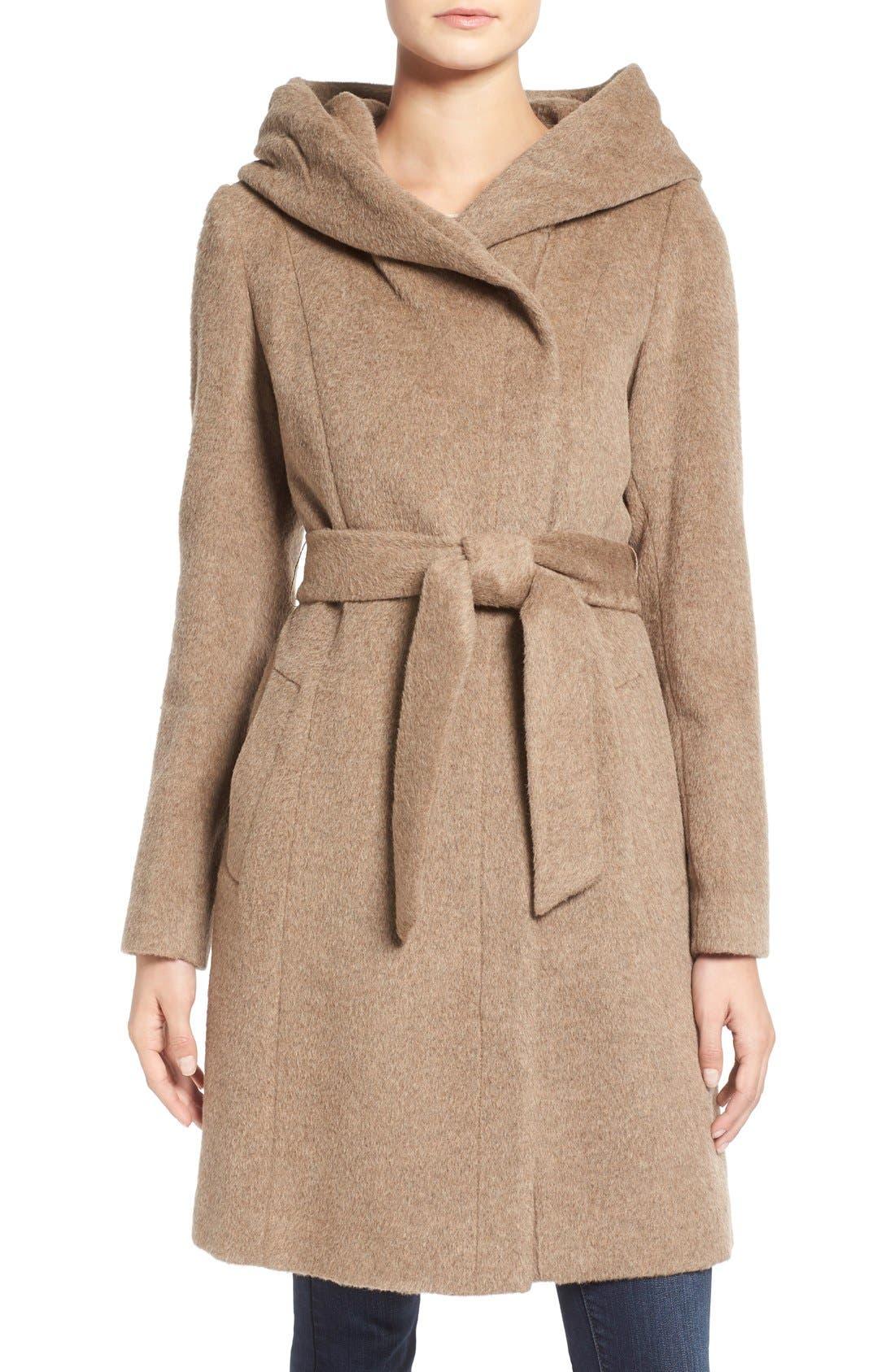 Alternate Image 1 Selected - Cole HaanAlpaca & Wool Wrap Coat