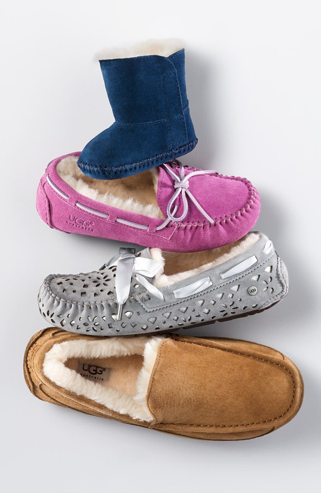 Alternate Image 5  - UGG® 'Dakota' Moccasin (Little Kid & Big Kid)