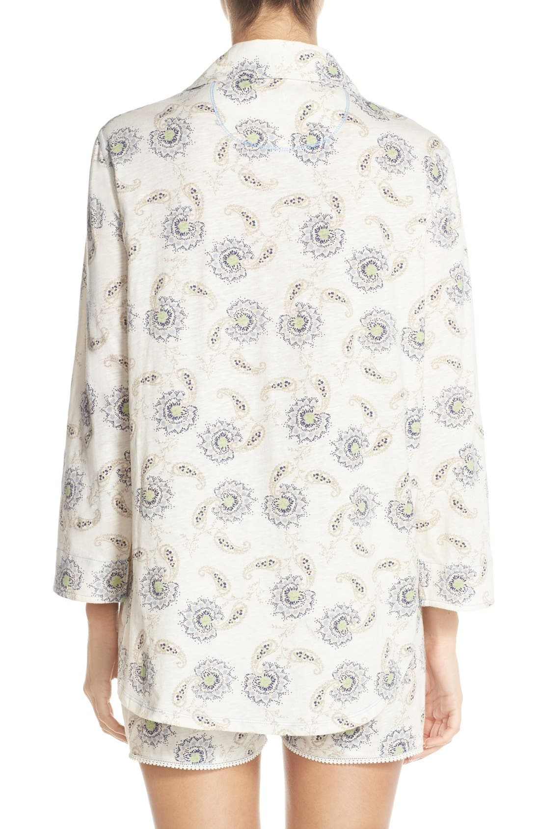 Alternate Image 2  - Lucky Brand Print Cotton Short Pajamas