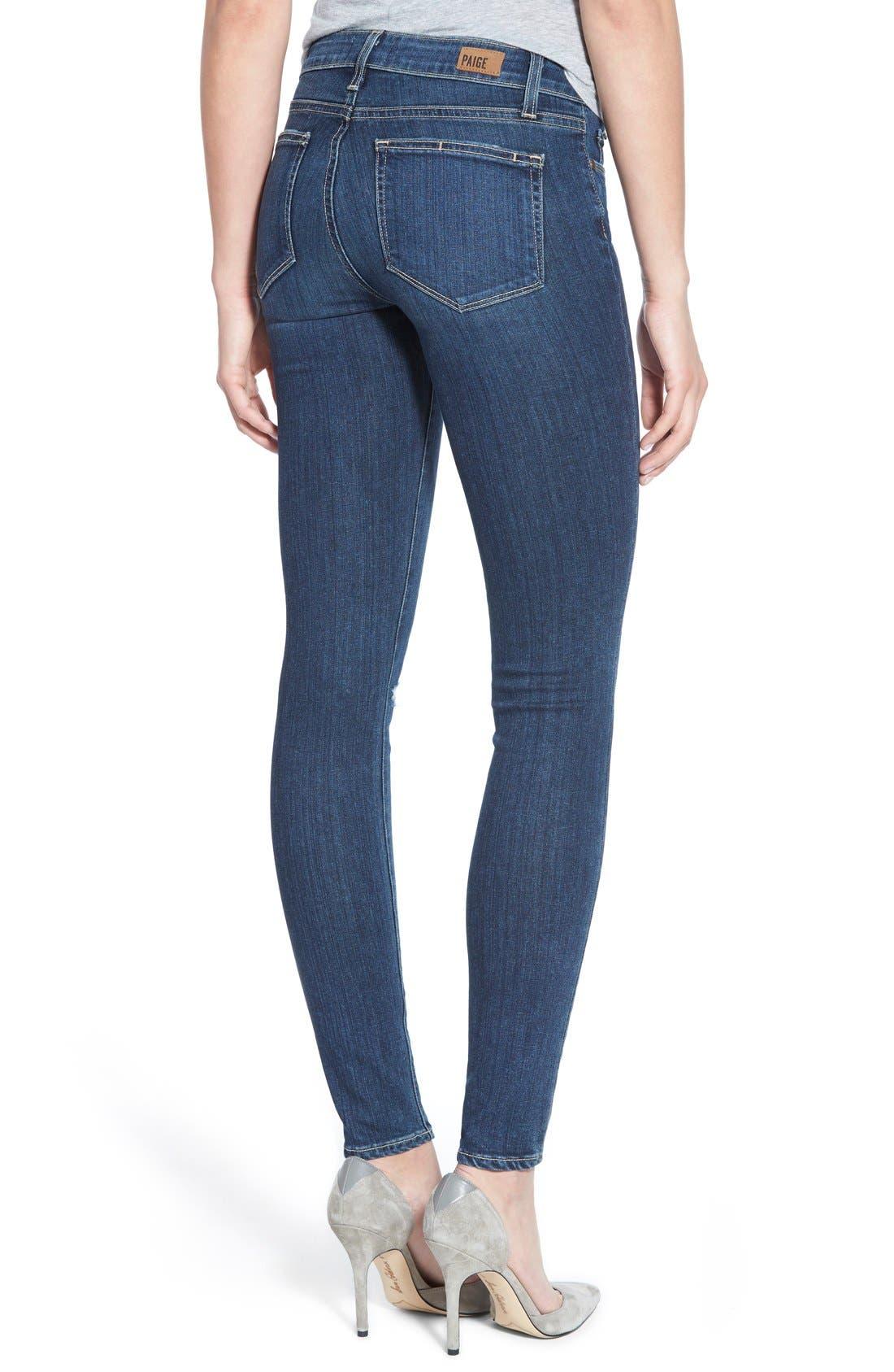 Alternate Image 2  - Paige Denim 'Transcend - Verdugo' Ultra Skinny Jeans (Elia Destructed)
