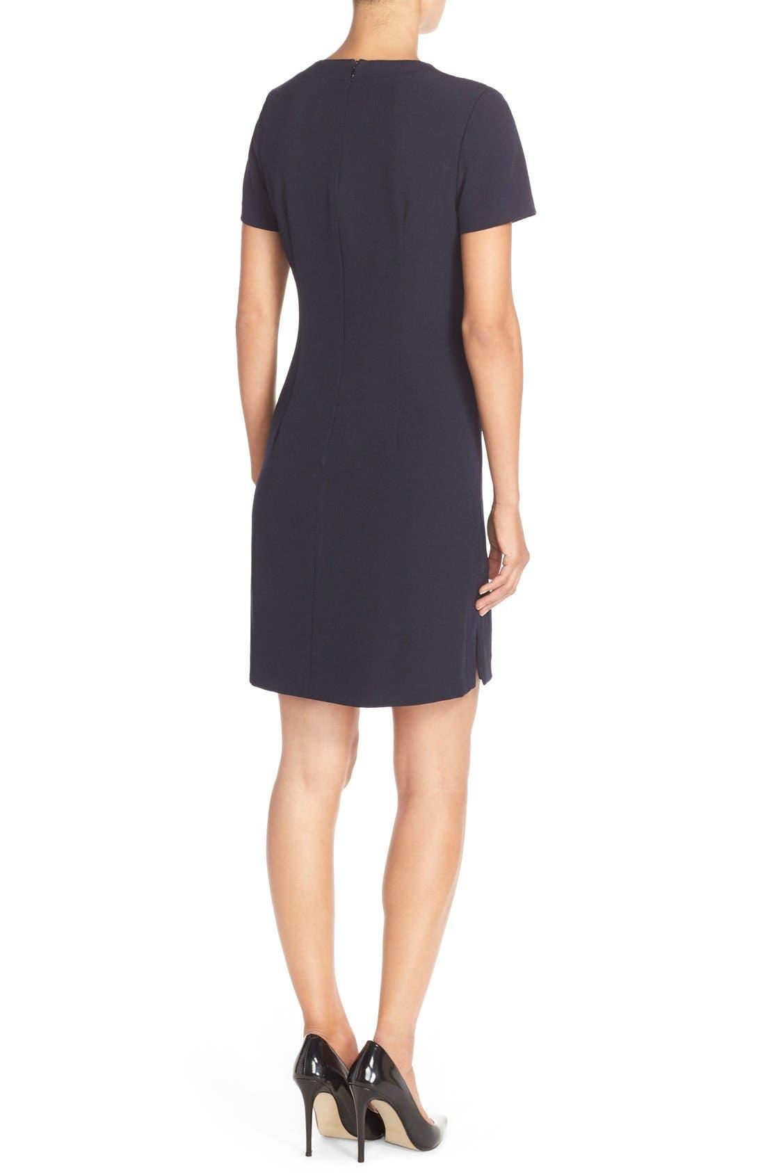Alternate Image 2  - Eliza J Front Lace Shift Dress (Regular & Petite)