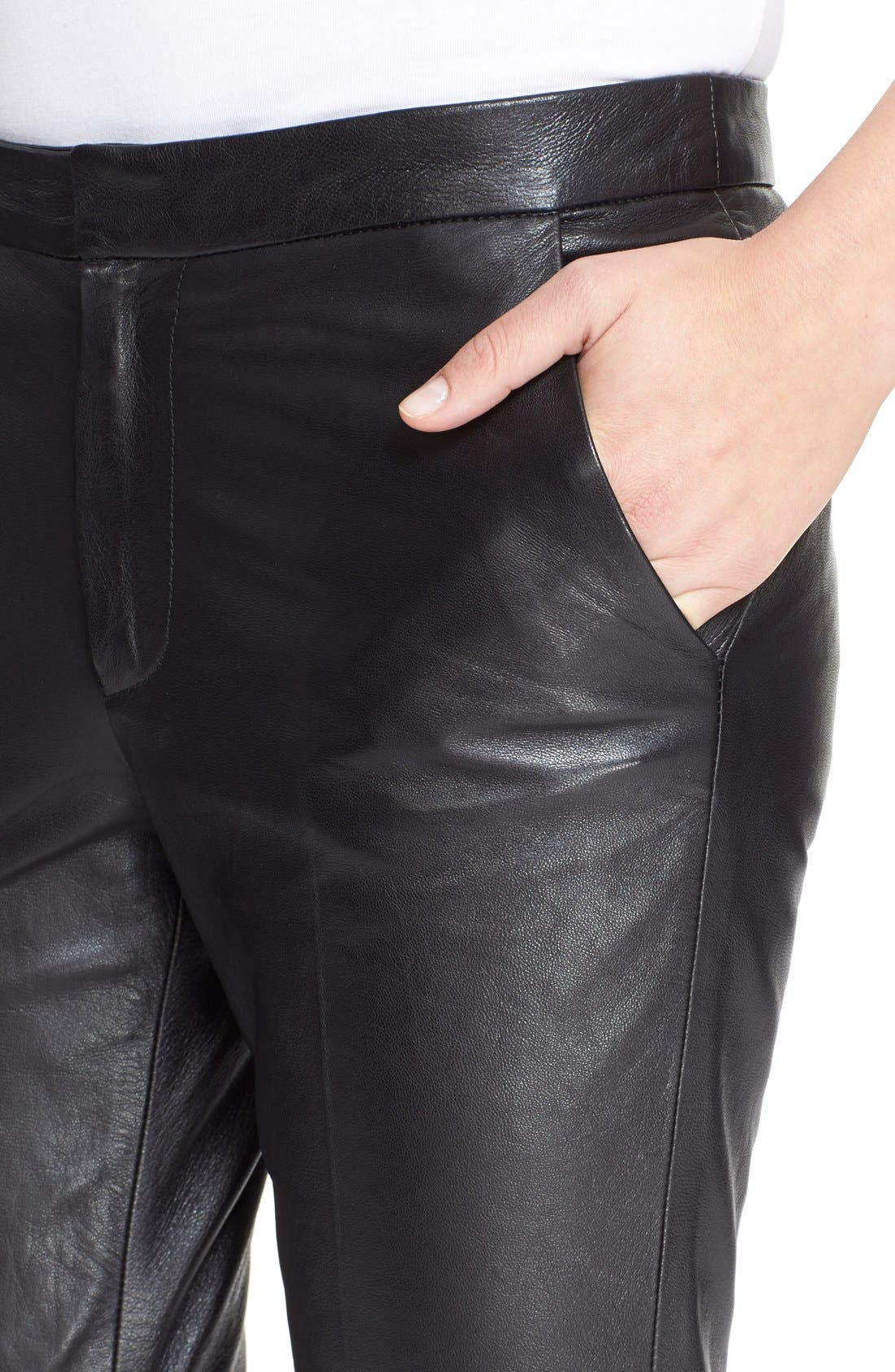 Alternate Image 5  - RED Valentino Leather Trousers
