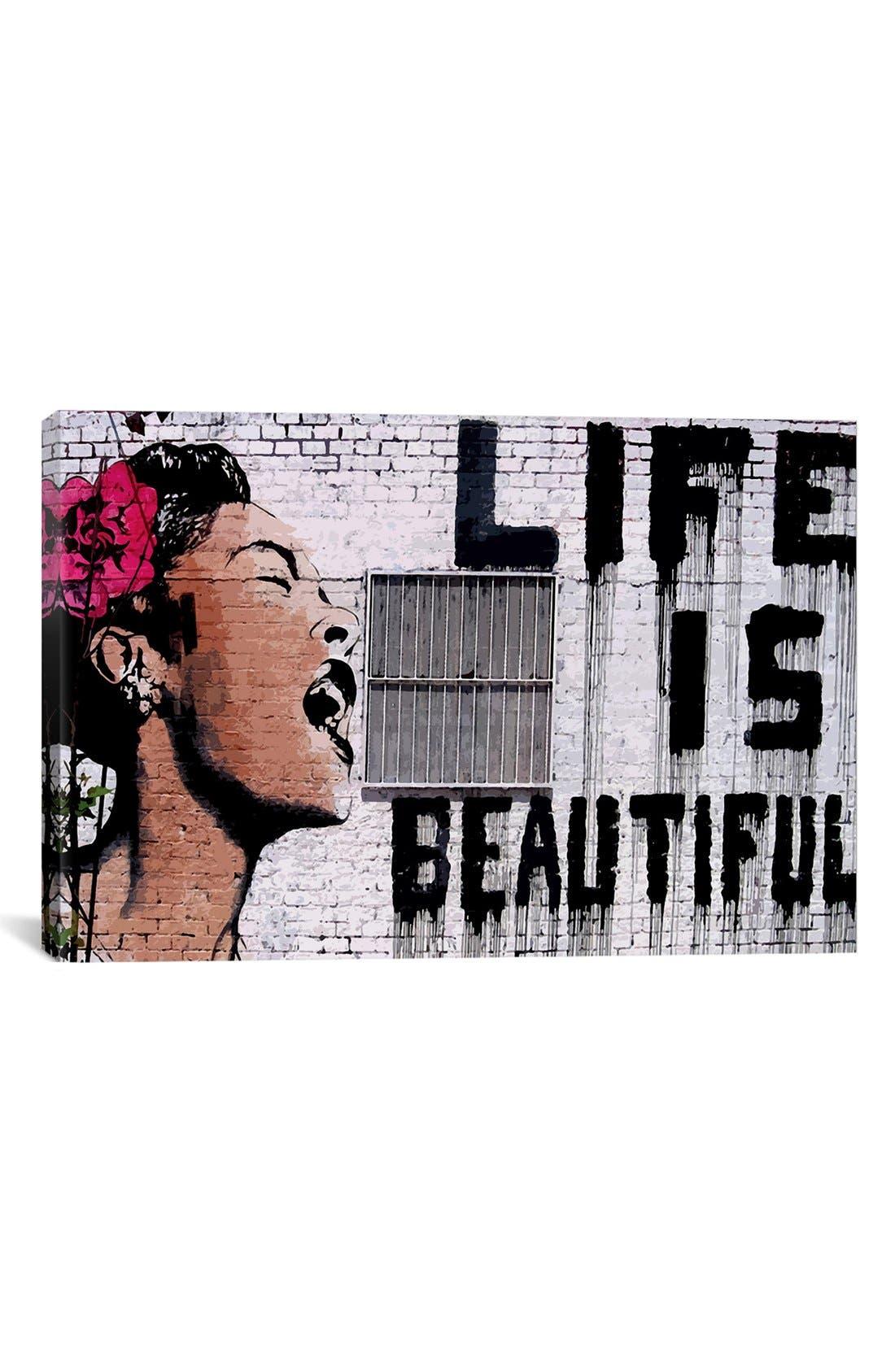 ICANVAS 'Life is Beautiful' Giclée Print Canvas Art