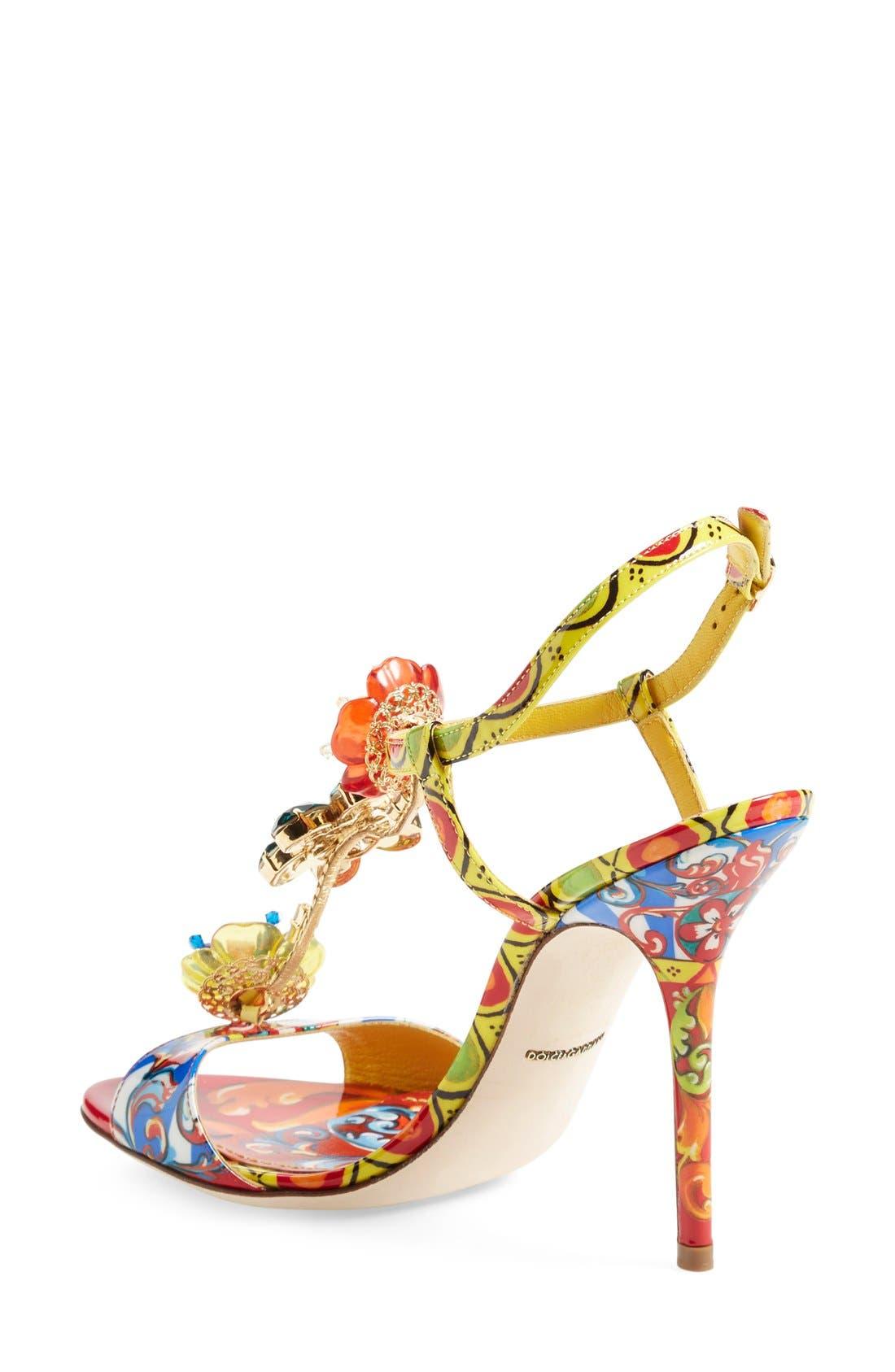 Alternate Image 2  - Dolce&Gabbana Jeweled T-Strap Sandal (Women)
