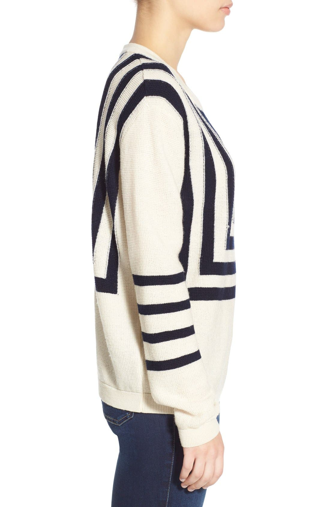 Alternate Image 3  - M.i.h. Jeans 'Bib Breton' Crewneck Sweater