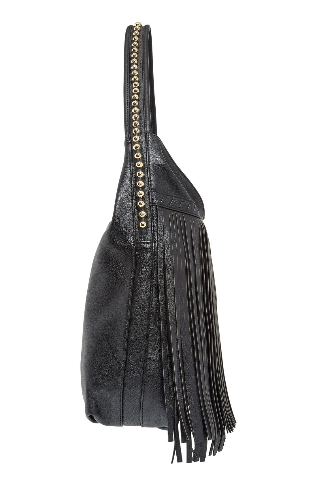 Alternate Image 5  - Big Buddha 'JGiada' Fringe Faux Leather Ball Hobo