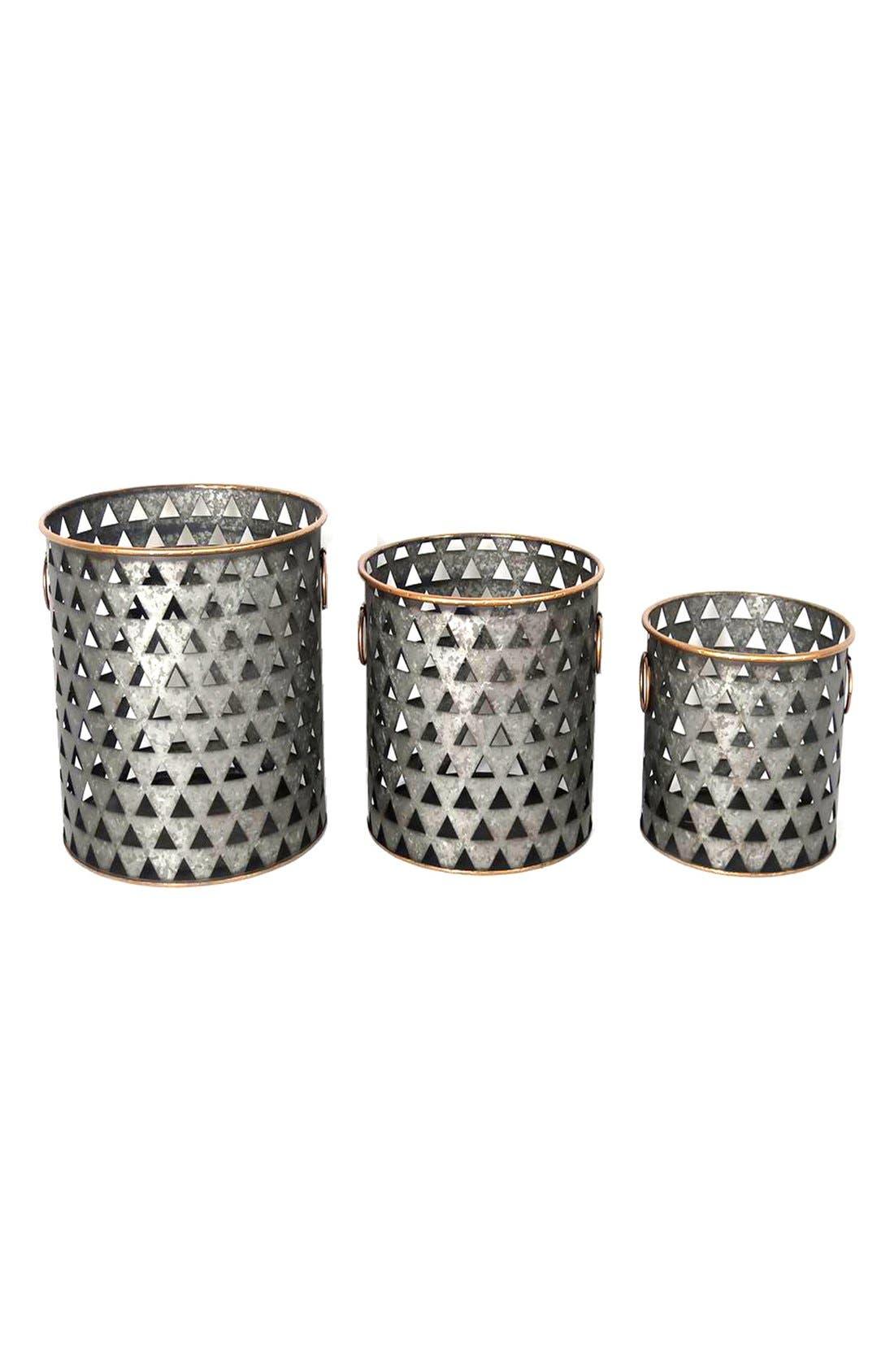 Alternate Image 1 Selected - Crystal Art Gallery Metal Baskets (Set of 3)