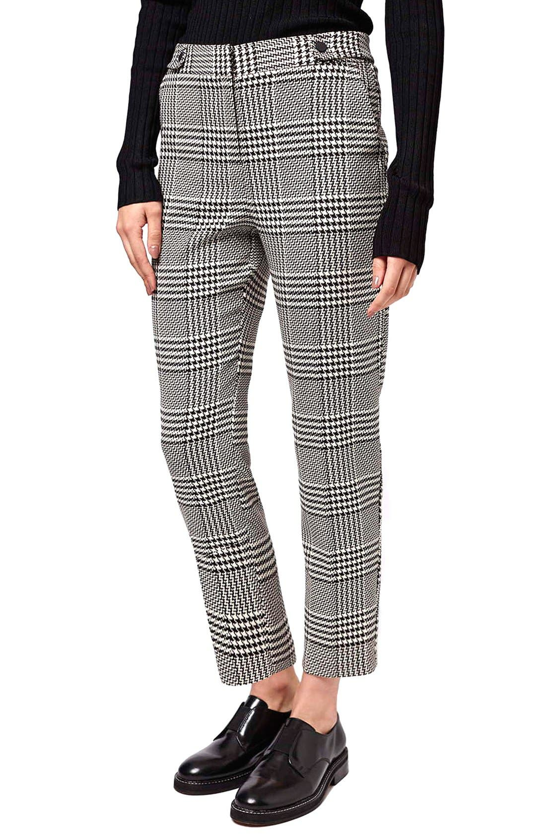 Alternate Image 1 Selected - Topshop Prince of Wales Cigarette Pants (Petite)