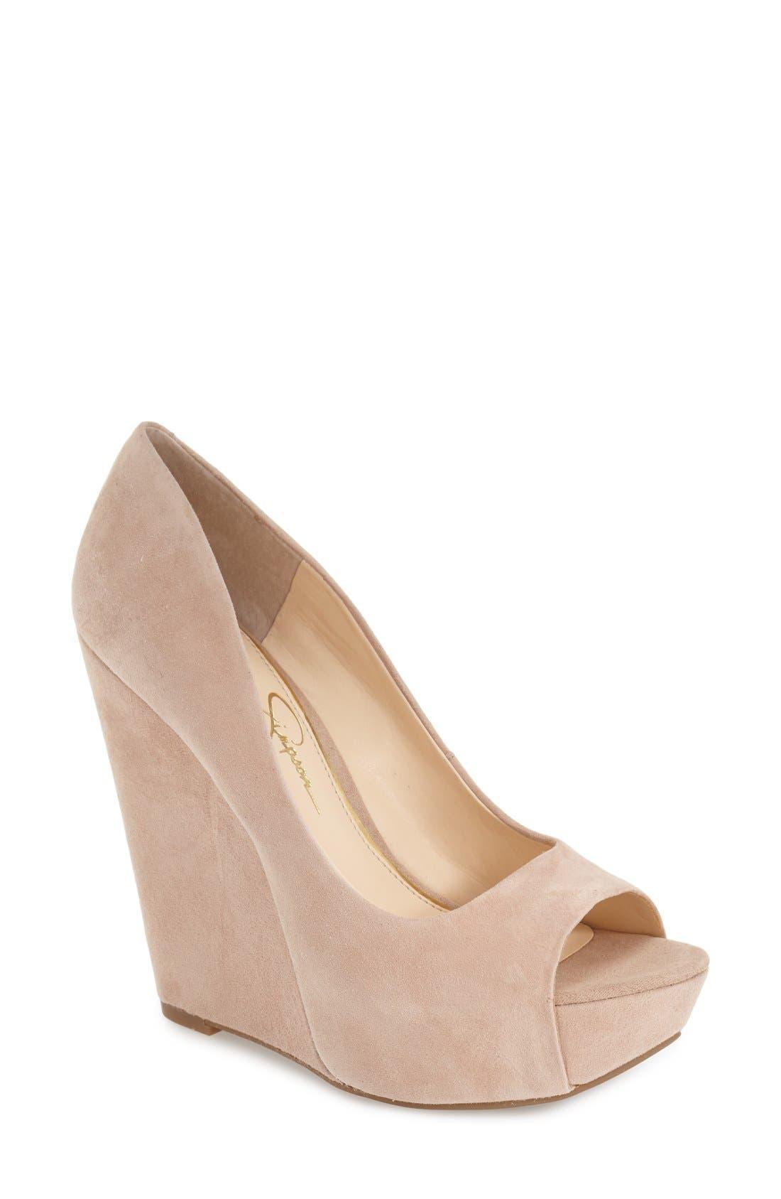 Main Image - Jessica Simpson 'Bethani' Wedge Platform Sandal (Women)