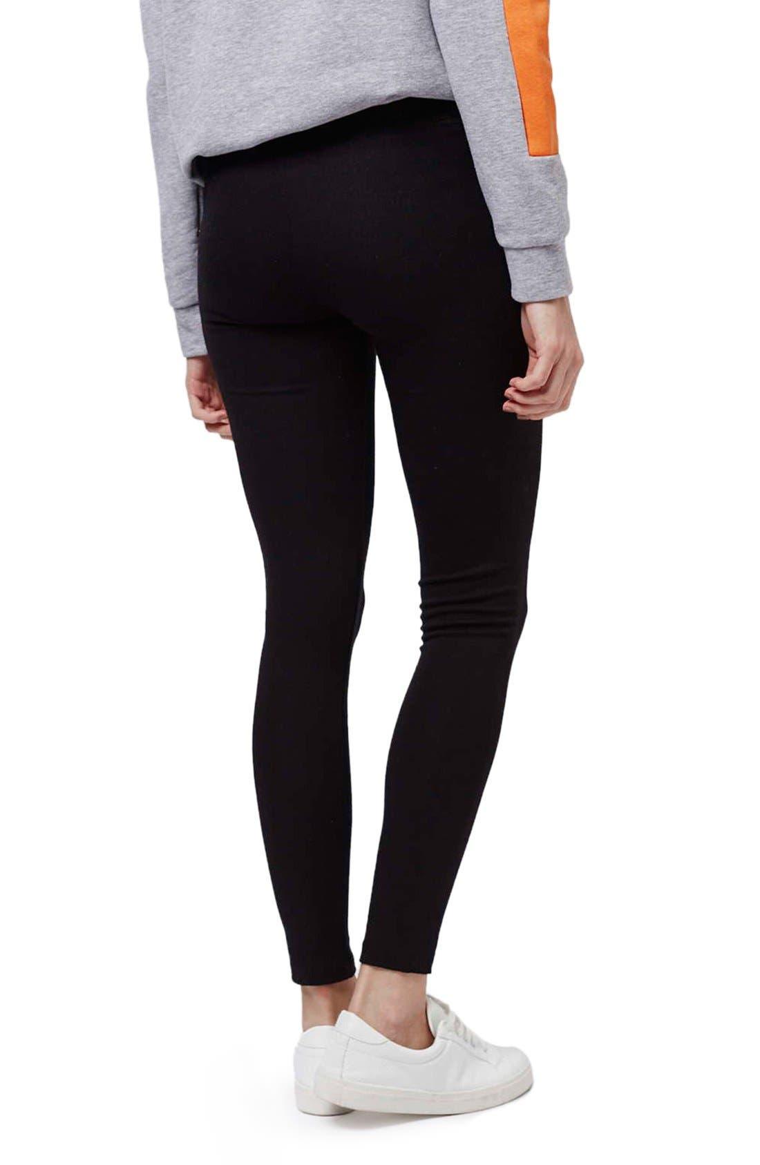 Alternate Image 3  - Topshop Elastic Stripe Leggings