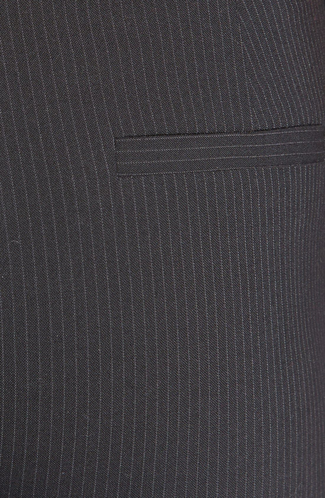 Alternate Image 6  - Halogen® Pinstripe Stretch Suit Pants (Regular & Petite)