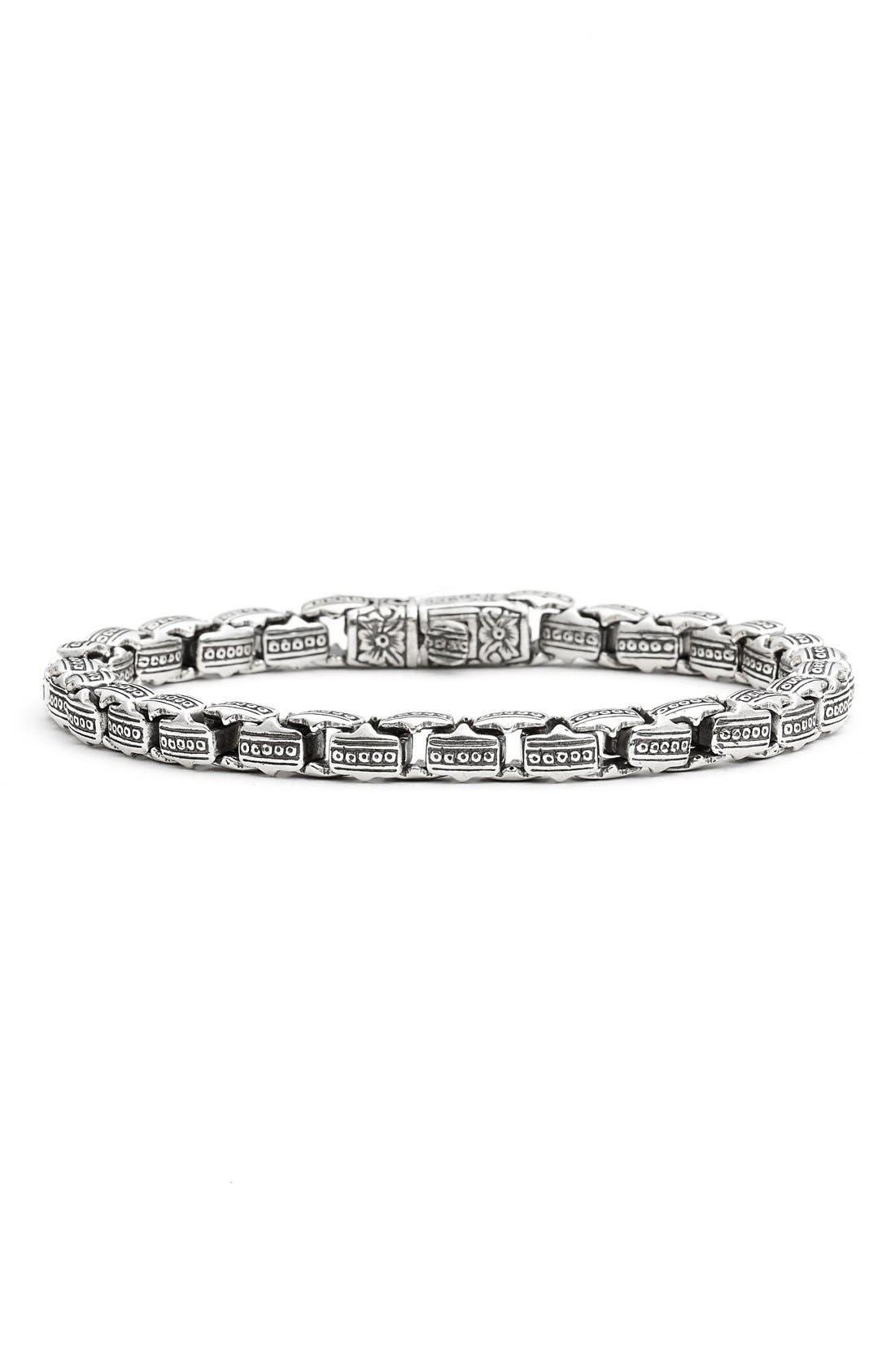 KONSTANTINO 'Minos' Etched Dot Link Bracelet