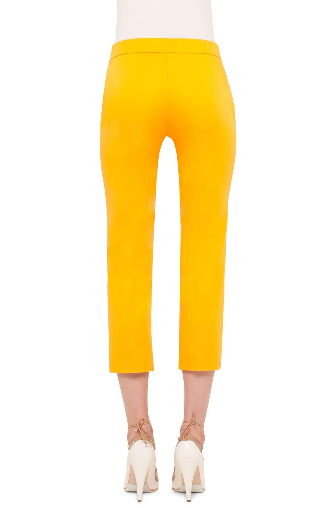 Alternate Image 2  - Akris punto 'Francella' Stretch Cotton Crop Pants