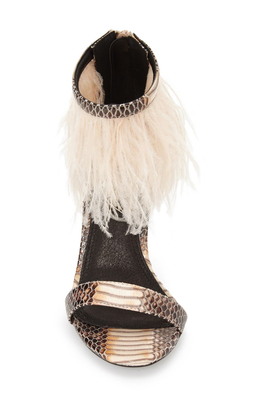 Alternate Image 3  - Topshop 'Ravenous' Feather Sandal (Women)