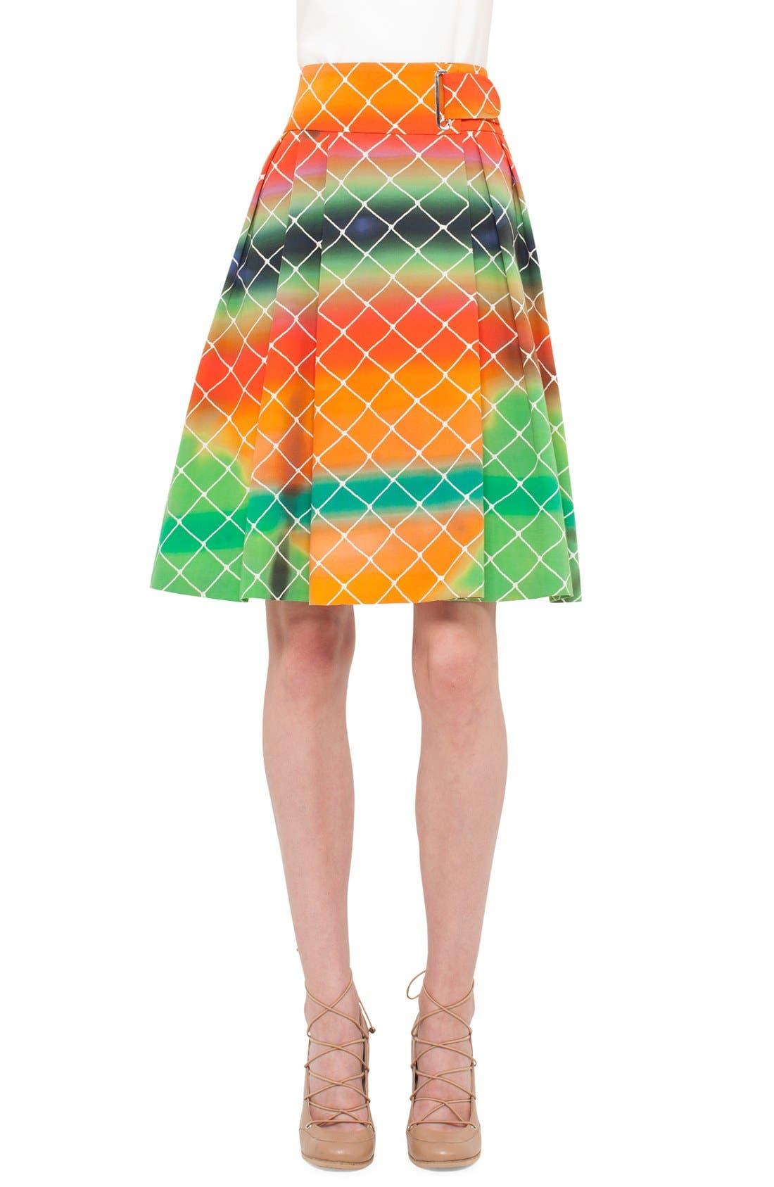 Alternate Image 2  - Akris punto 'Baseball Net' Flared Skirt