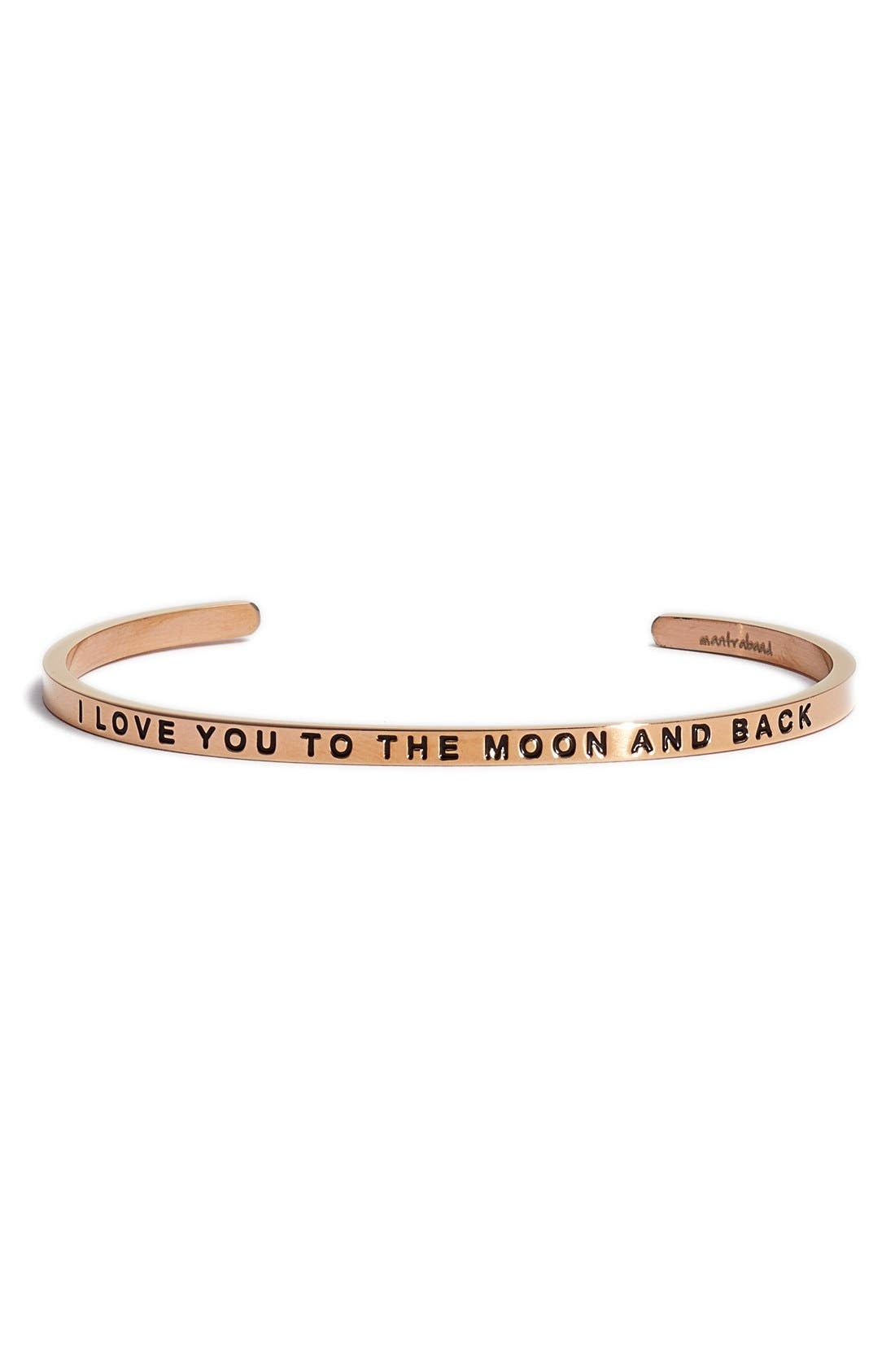 MantraBand® 'I Love You to the Moon and Back' Cuff
