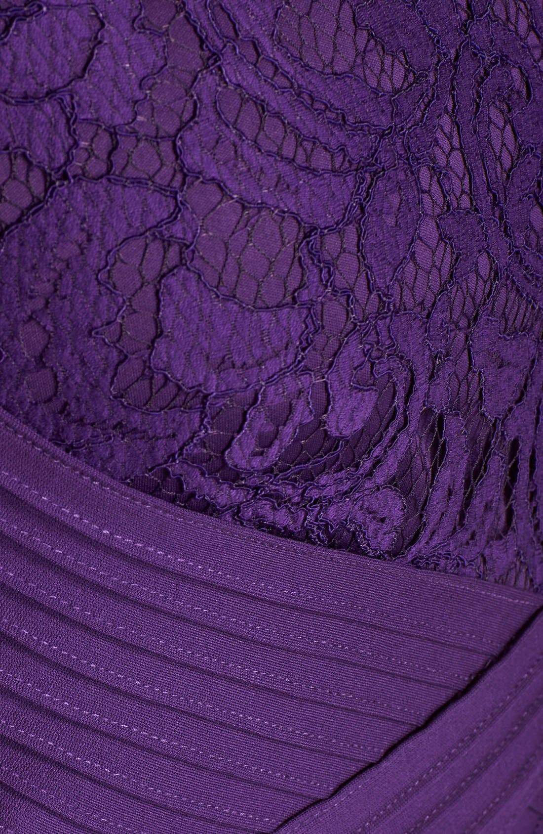 Alternate Image 6  - Tadashi Shoji Crisscross Waist Lace Sheath Dress (Regular & Petite)