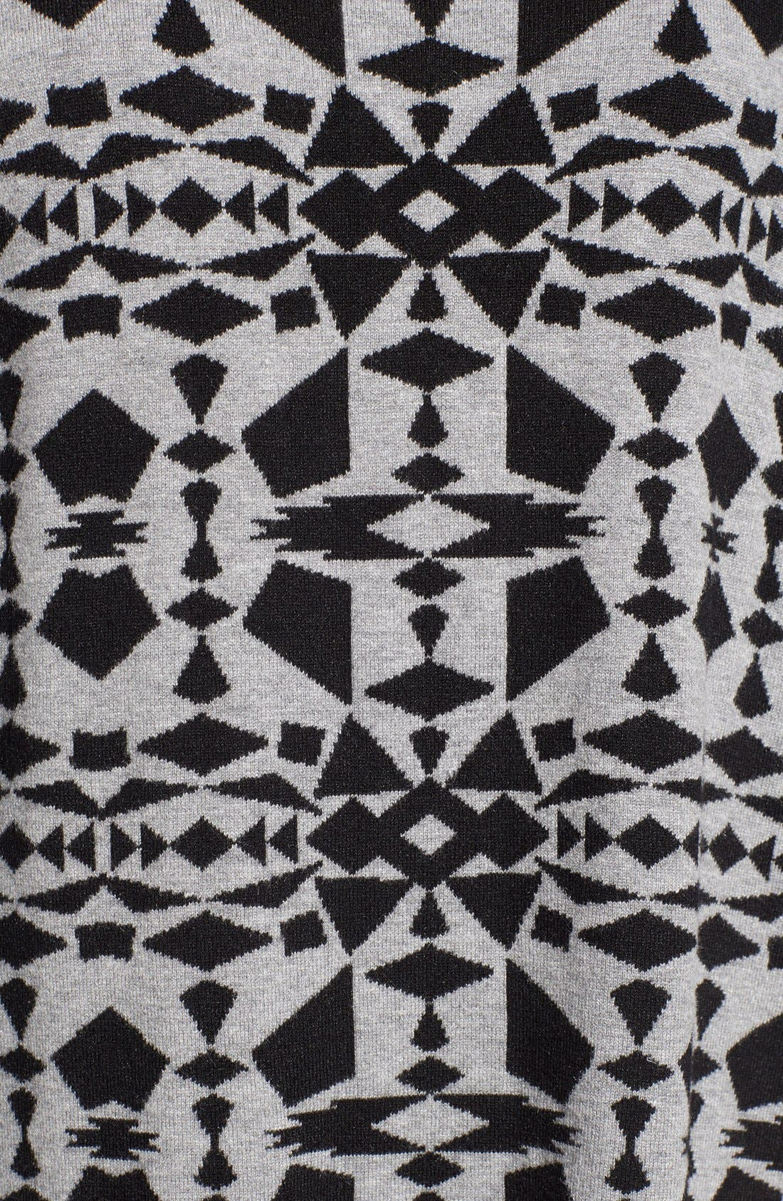 Alternate Image 5  - kensie Print Block Asymmetrical Pullover