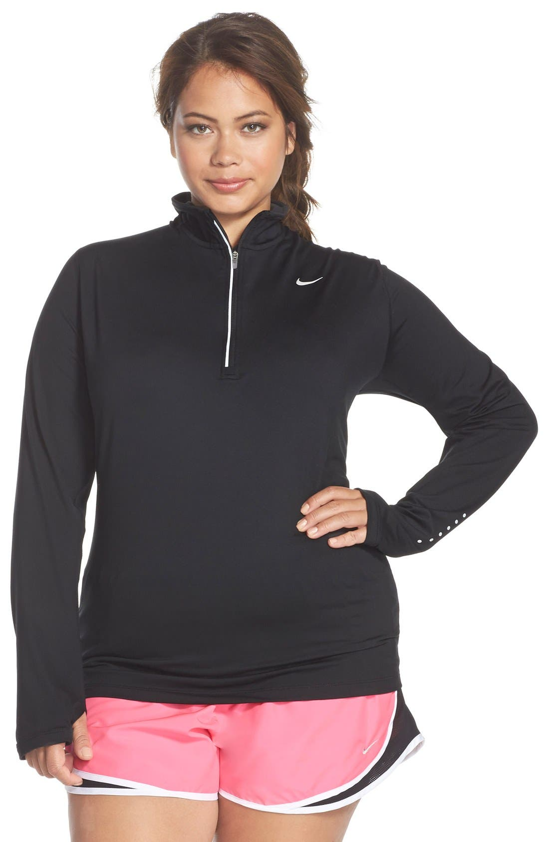Nike 'Element' Dri-FIT Half Zip Running Top (Plus Size)