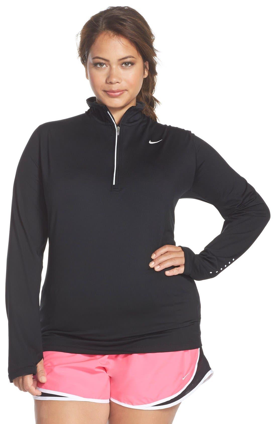 Nike 'Element' Dri-FIT Half Zip Running Top (Plus Size)