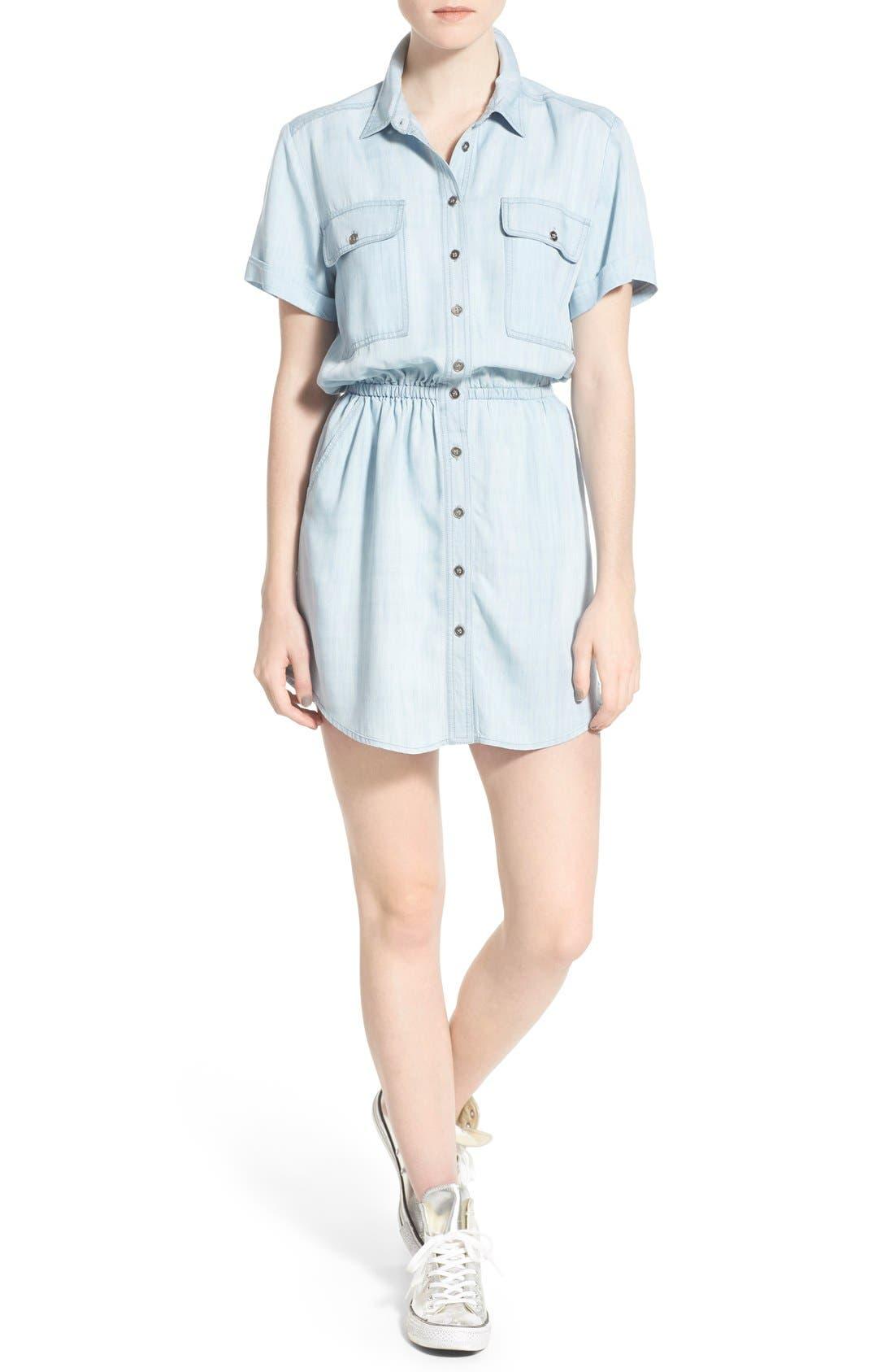 Alternate Image 1 Selected - BP. Chambray Shirtdress