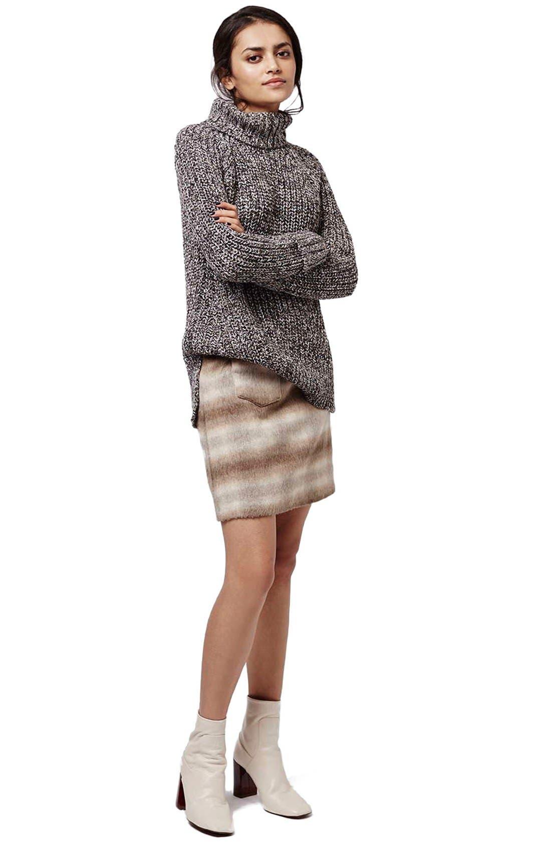 Alternate Image 2  - Topshop Rolled Turtleneck Sweater