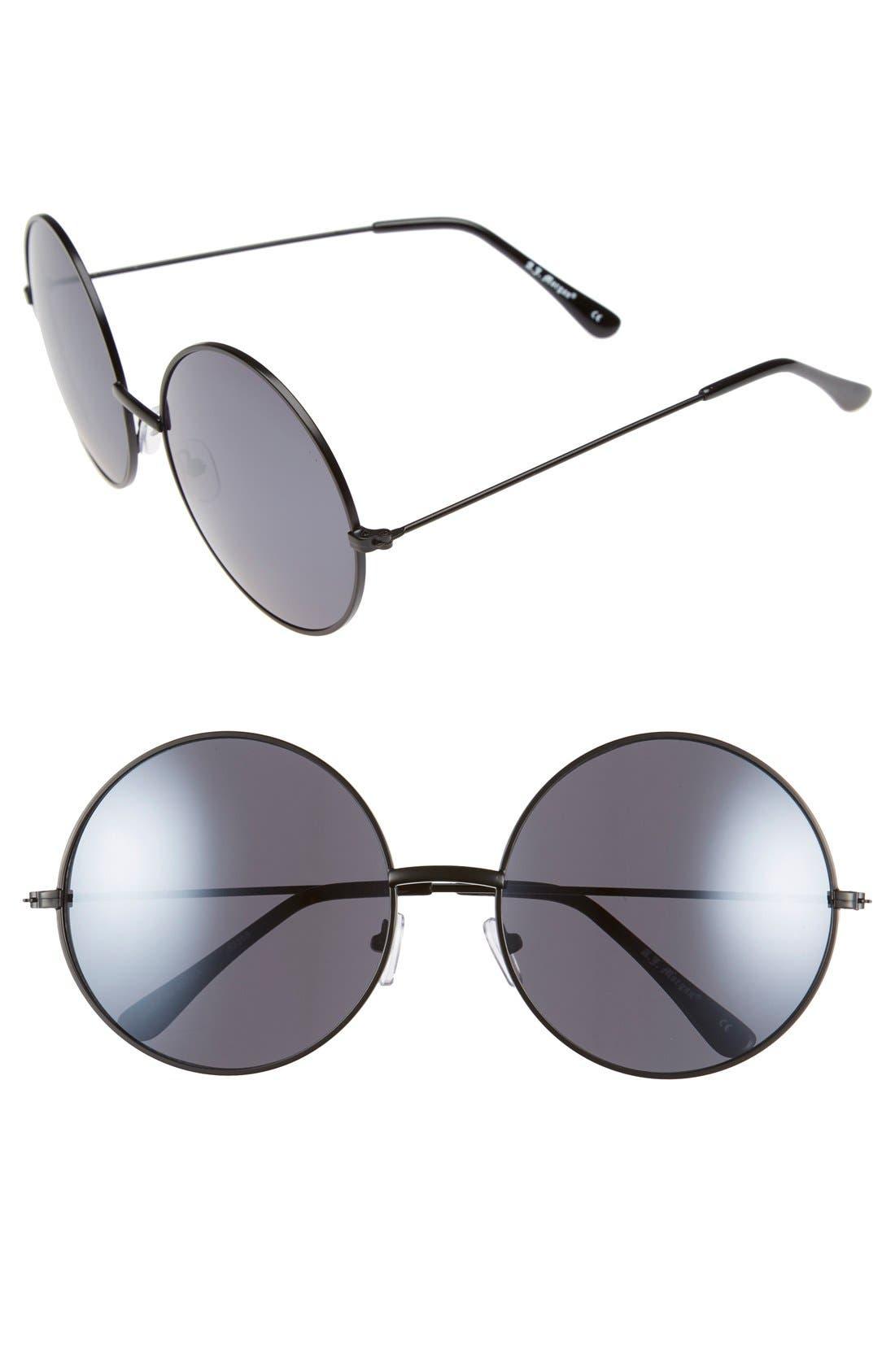 Main Image - A.J. Morgan 'Moonies' 61mm Round Sunglasses