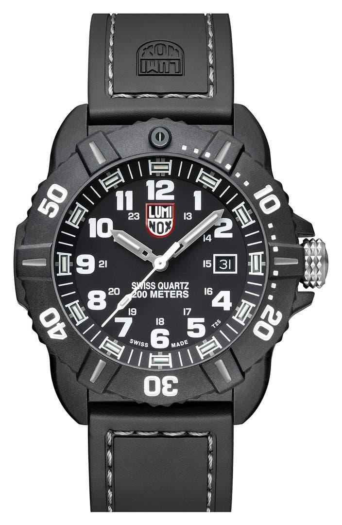 Luminox Coronado Rubber Strap Watch 44mm Nordstrom