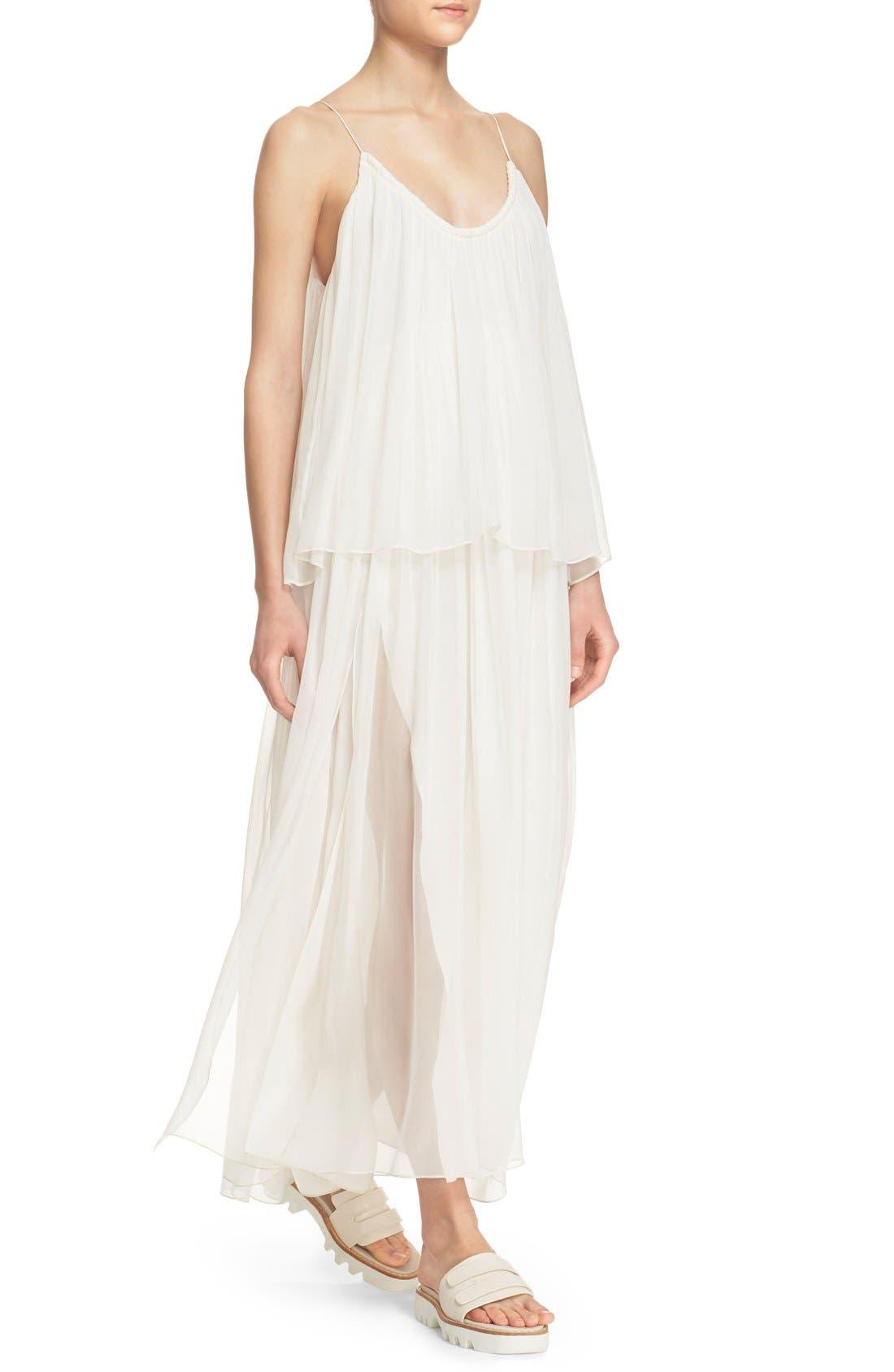 Alternate Image 4  - Elizabeth and James 'Mael' Blouson Silk Maxi Dress