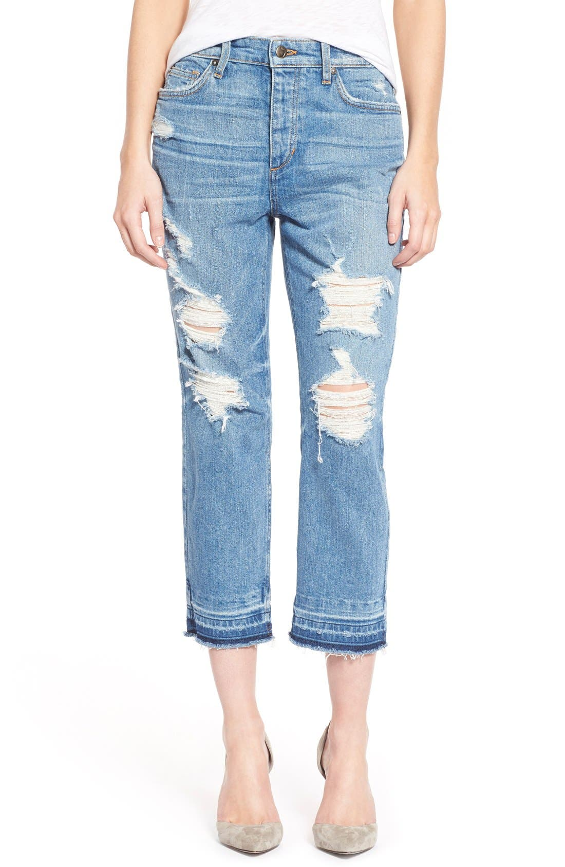 Alternate Image 1 Selected - Joe's 'Collector's - Debbie' High Rise Destroyed Boyfriend Jeans (Mazie)