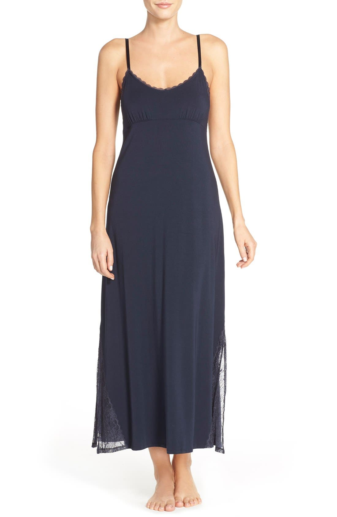 Alternate Image 1 Selected - Midnight by Carole Hochman Stretch Modal Nightgown