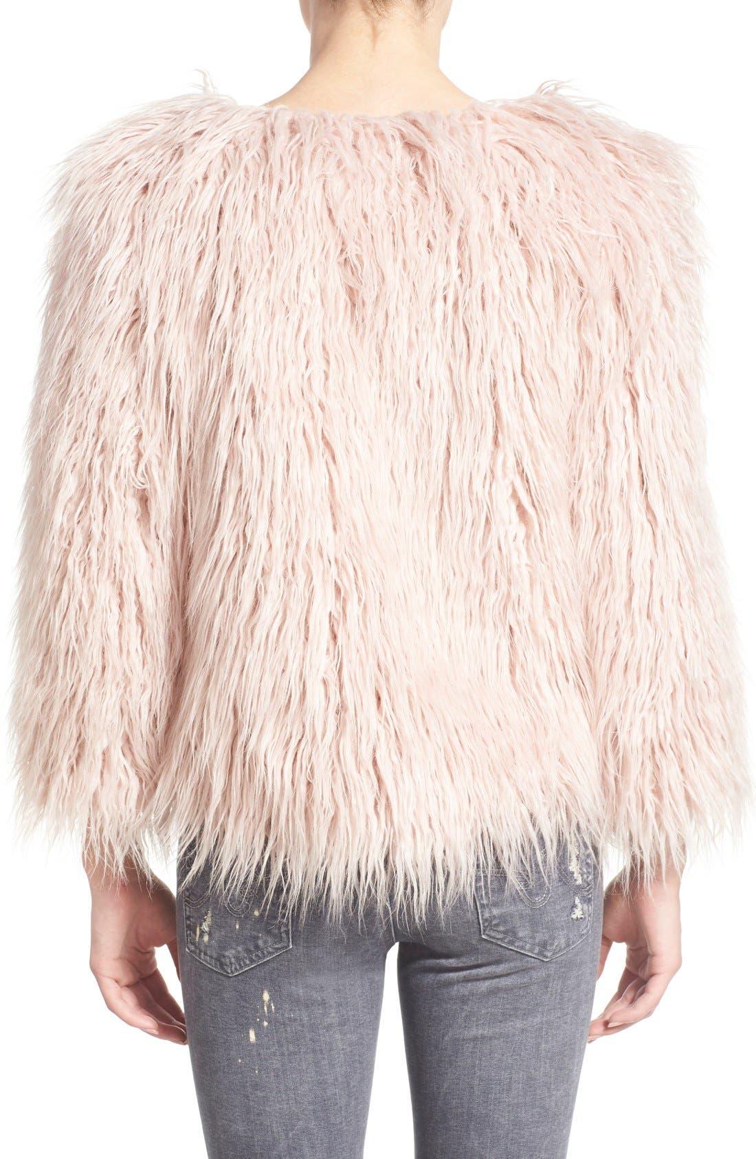 Alternate Image 2  - Pam & Gela 'Mongolian' Faux Fur Coat