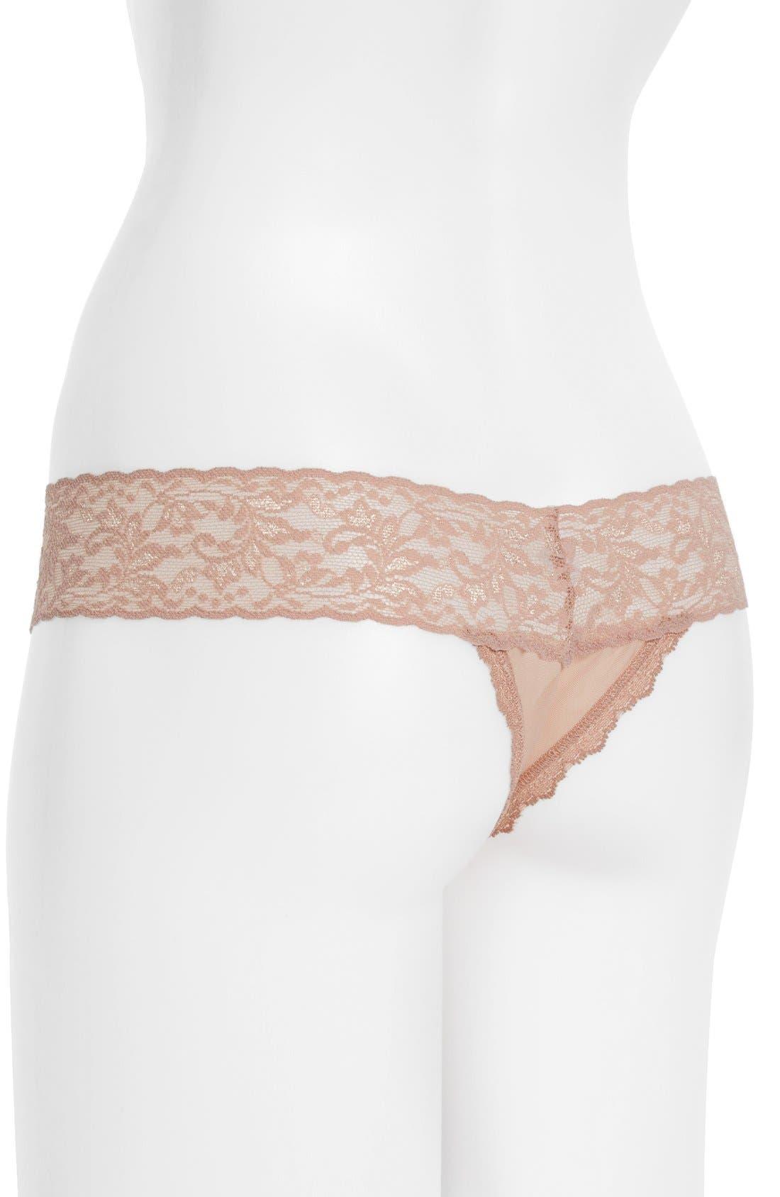 Alternate Image 2  - Hanky Panky 'Luscious Rose' Lace Thong