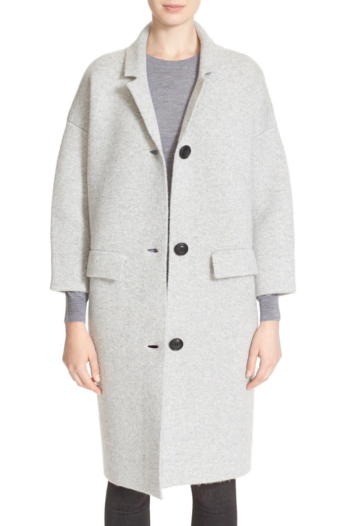 Main Image - Burberry Brit Wool & Cashmere Knit Long Coat