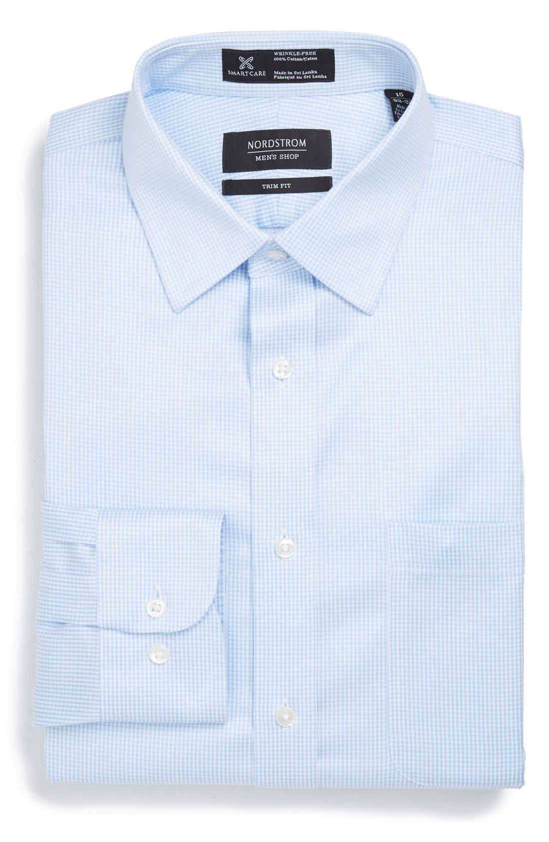NORDSTROM MEN'S SHOP Smartcare™ Trim Fit Houndstooth Dress