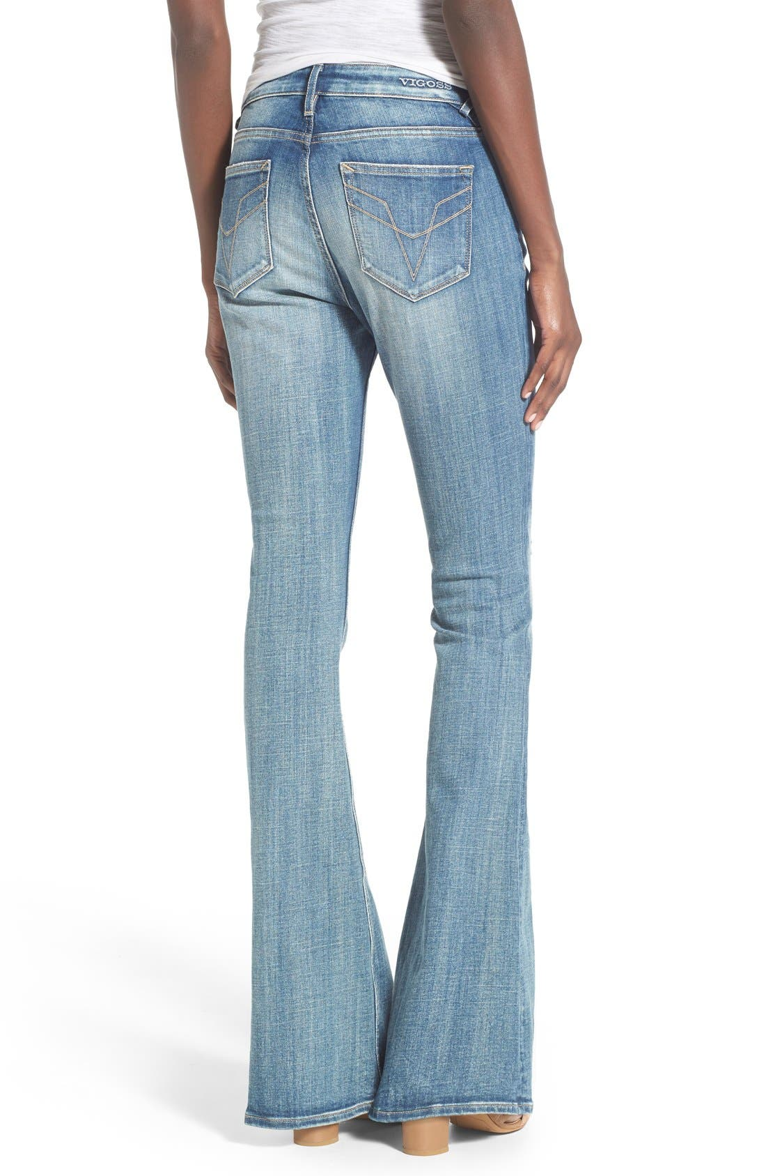 Alternate Image 2  - Vigoss 'Chelsea' Flare Jeans (Medium Wash)