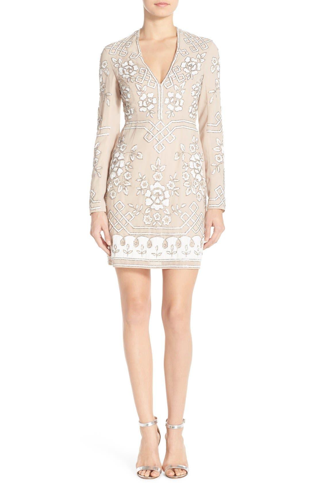 Alternate Image 4  - Needle & Thread Embellished Long Sleeve Minidress