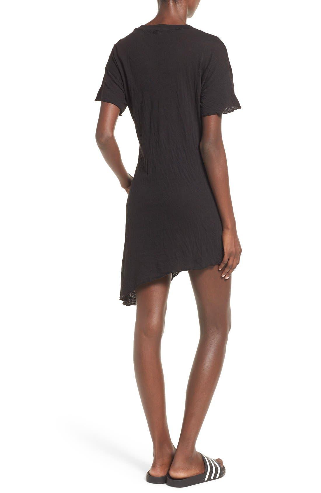 Alternate Image 2  - LNA Asymmetrical Hem Shift Dress