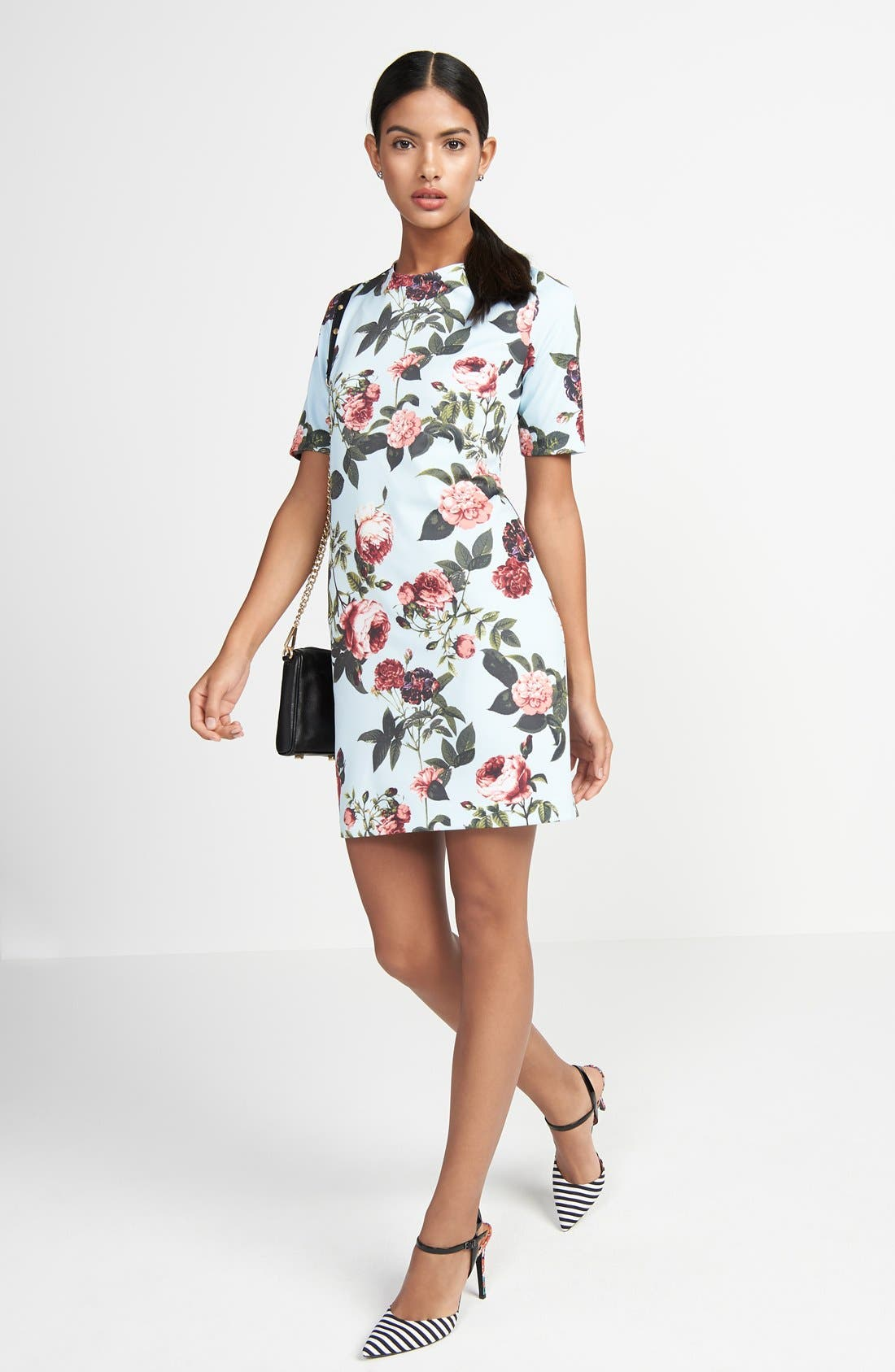 Alternate Image 6  - CeCe by Cynthia Steffe 'Bouquet Estate' Floral Print Scuba Knit Sheath Dress