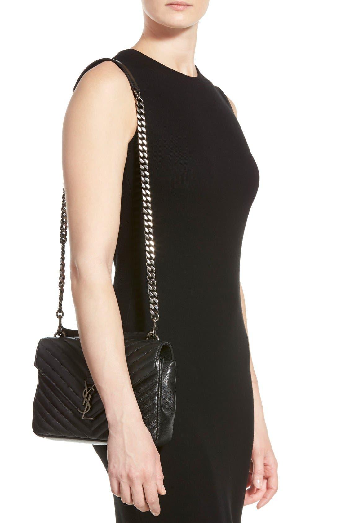 Alternate Image 2  - Saint Laurent 'Medium Monogram' Quilted Leather Shoulder Bag