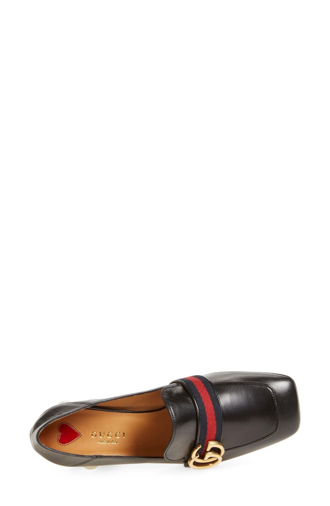 Alternate Image 3  - Gucci 'Peyton' Square Toe Loafer Pump (Women)