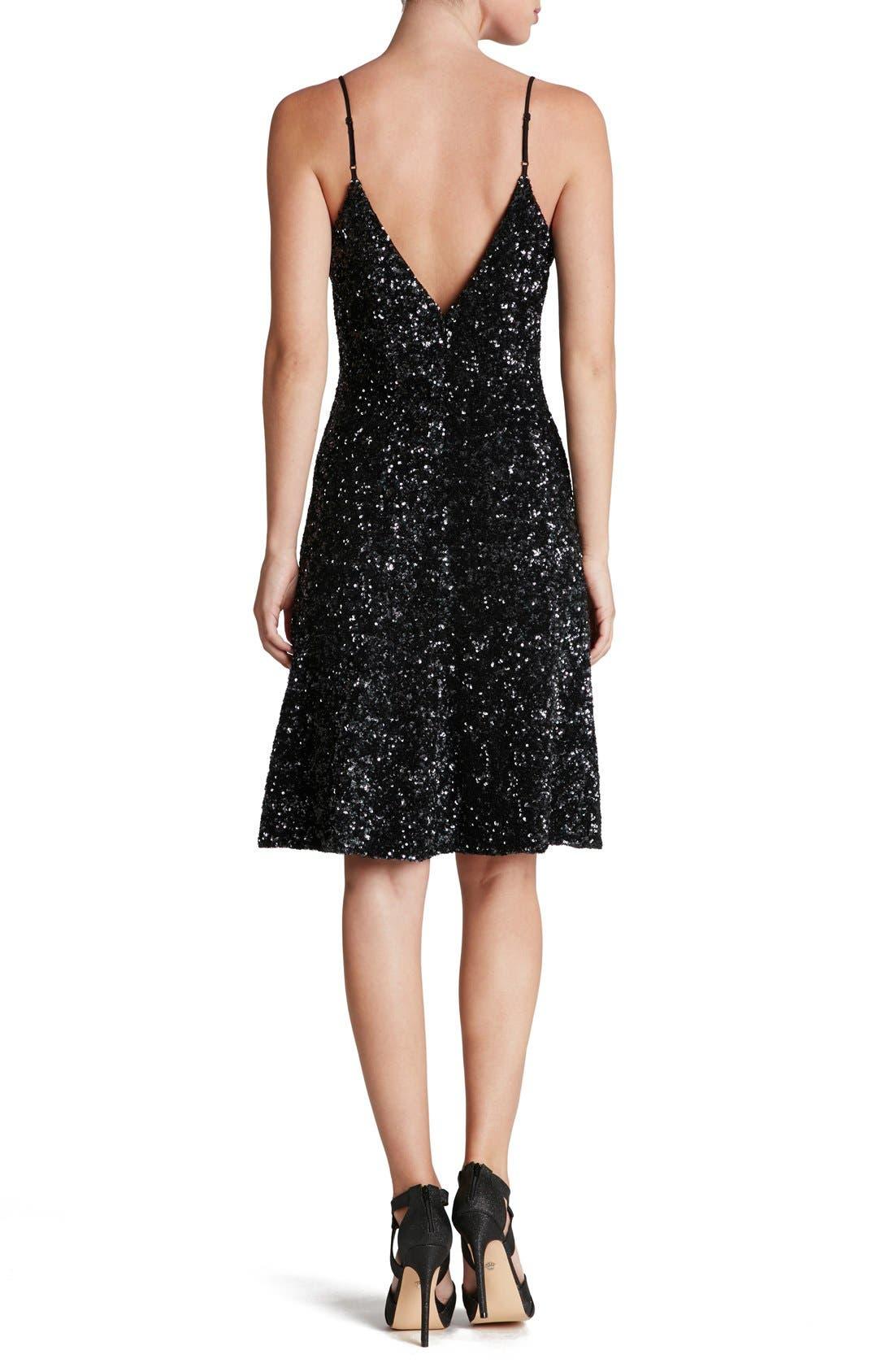 Alternate Image 2  - Dress the Population 'Gemma' Sequin Fit & Flare Dress