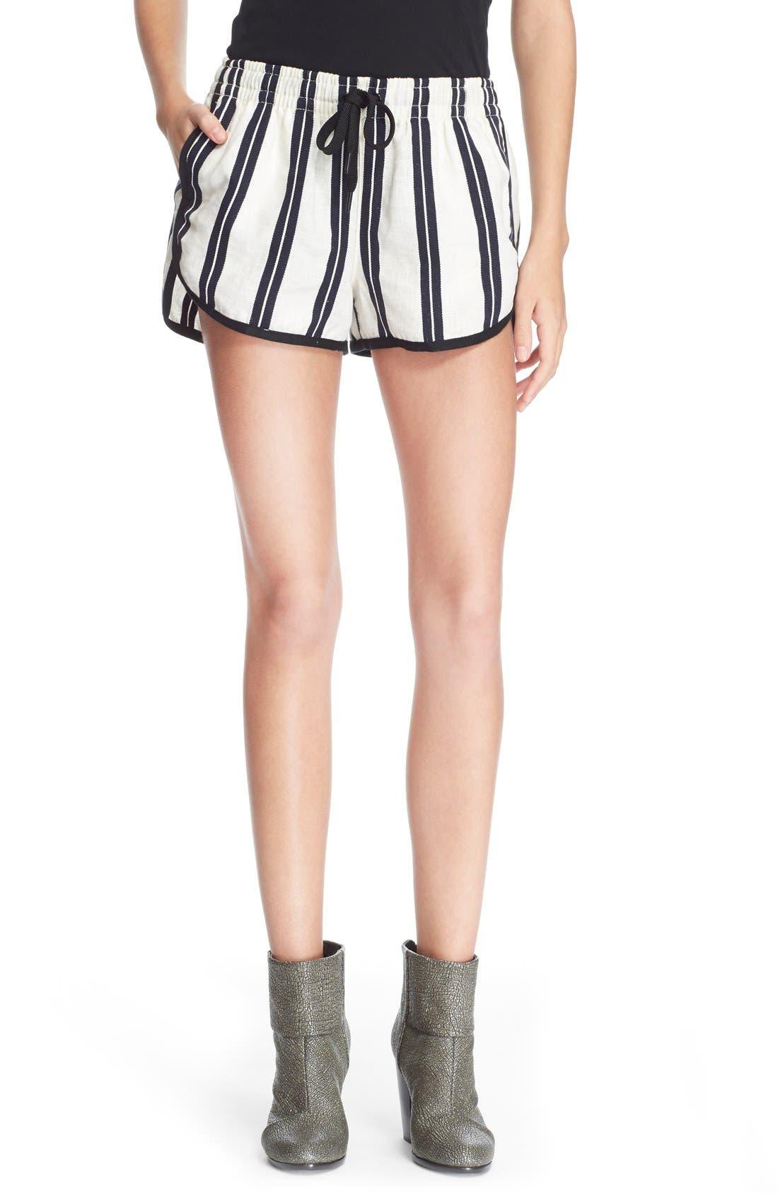 Alternate Image 1 Selected - rag & bone/JEAN 'Beach' High Rise Stripe Shorts